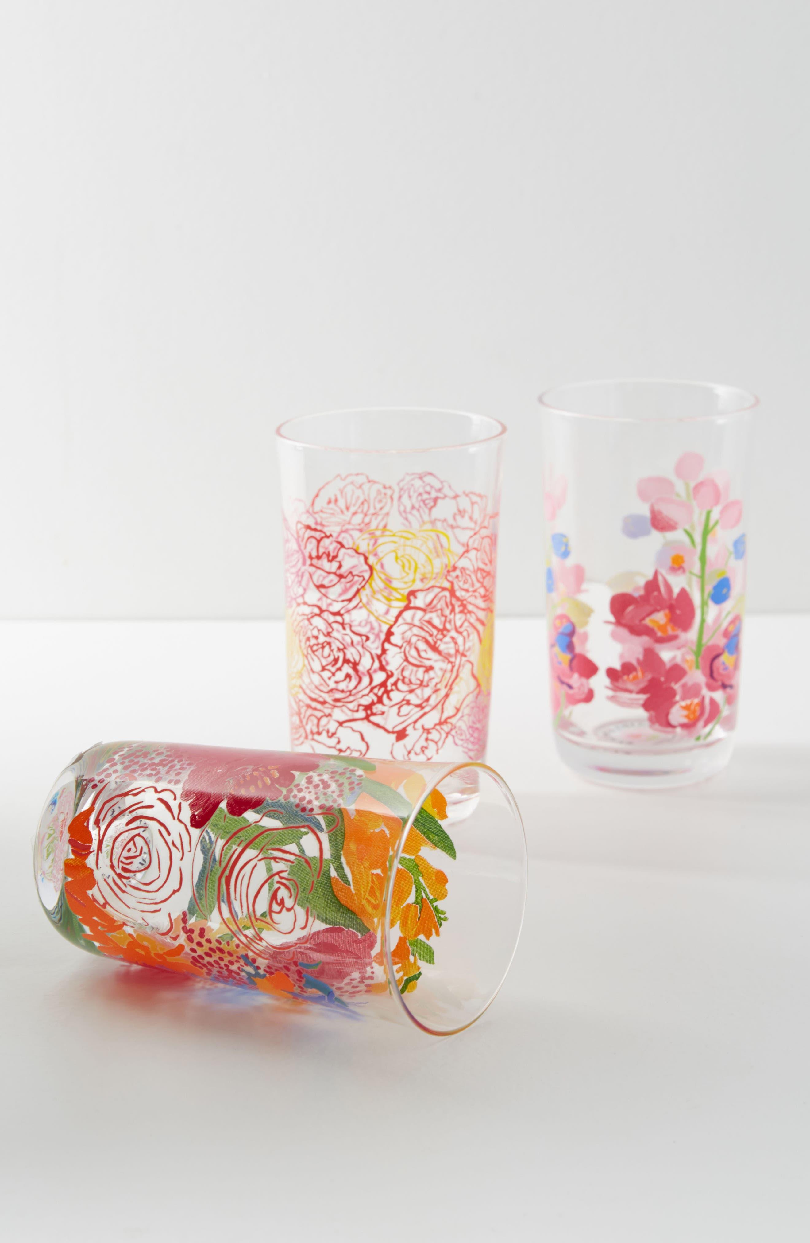 Paint + Petals Juice Glass,                             Main thumbnail 1, color,                             PURPLE