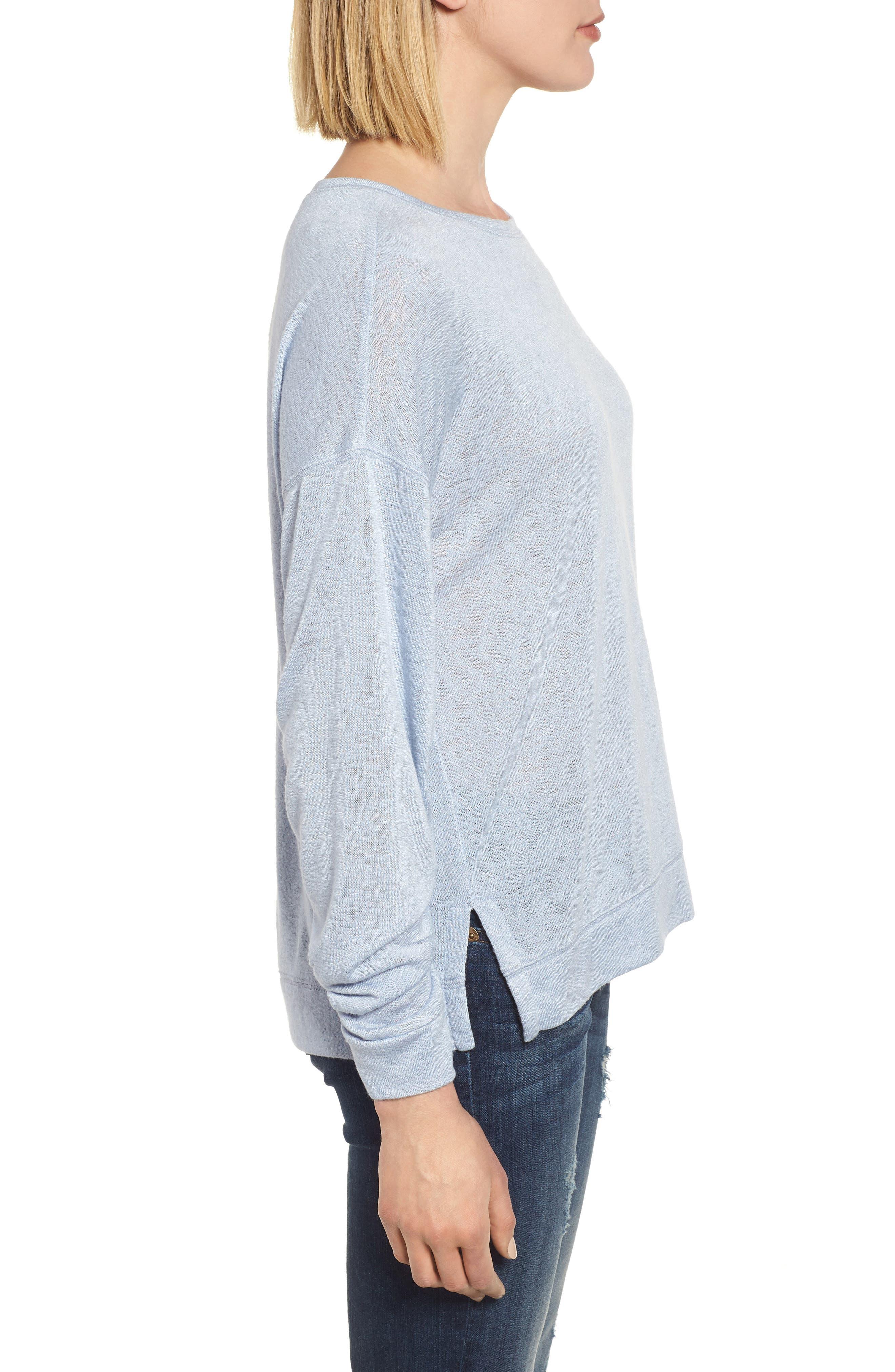 Tuck Sleeve Sweatshirt,                             Alternate thumbnail 18, color,