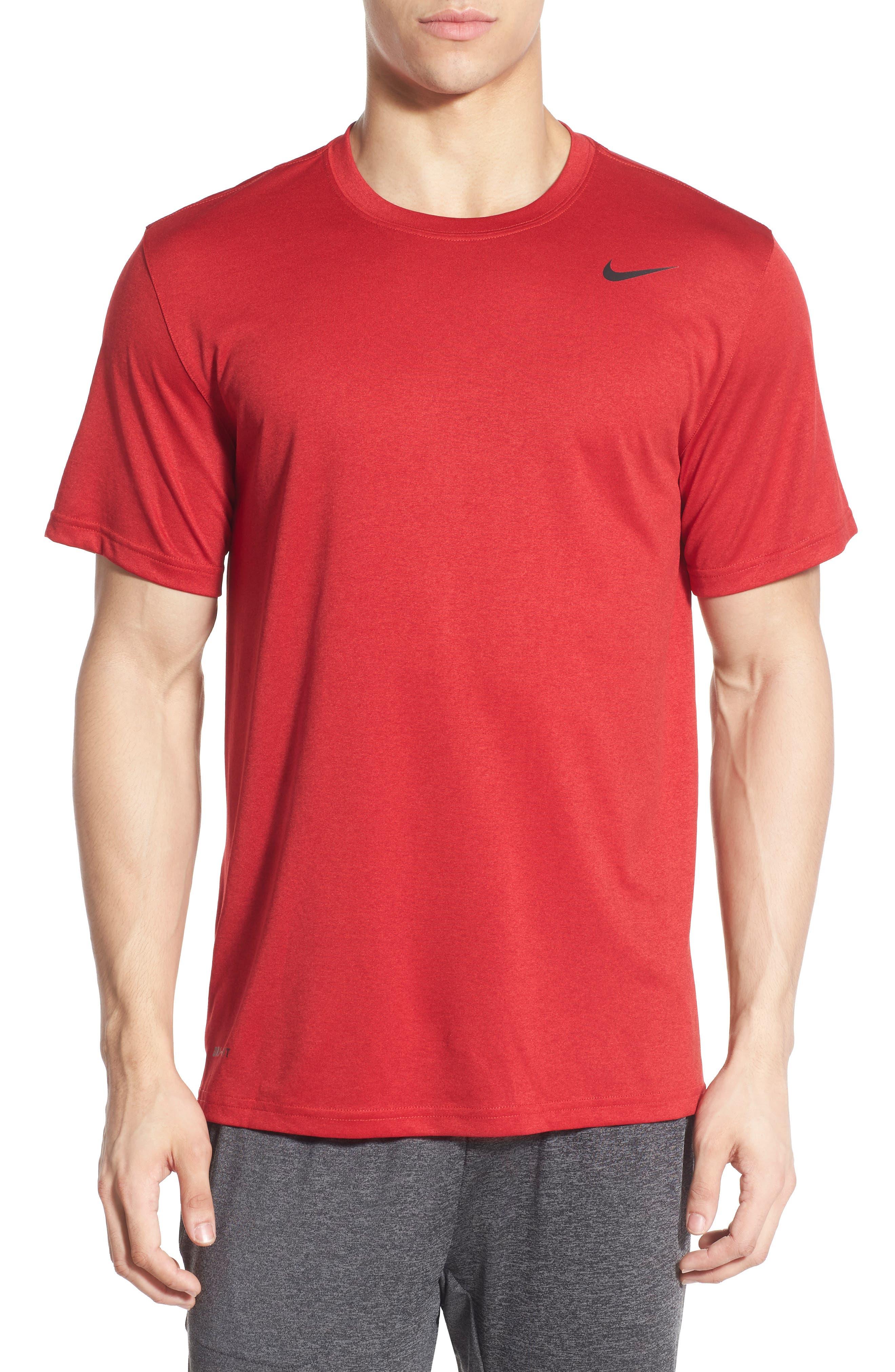 Legend 2.0 Dri-FIT Graphic T-Shirt,                             Alternate thumbnail 6, color,                             GYM RED/BLACK/BLACK