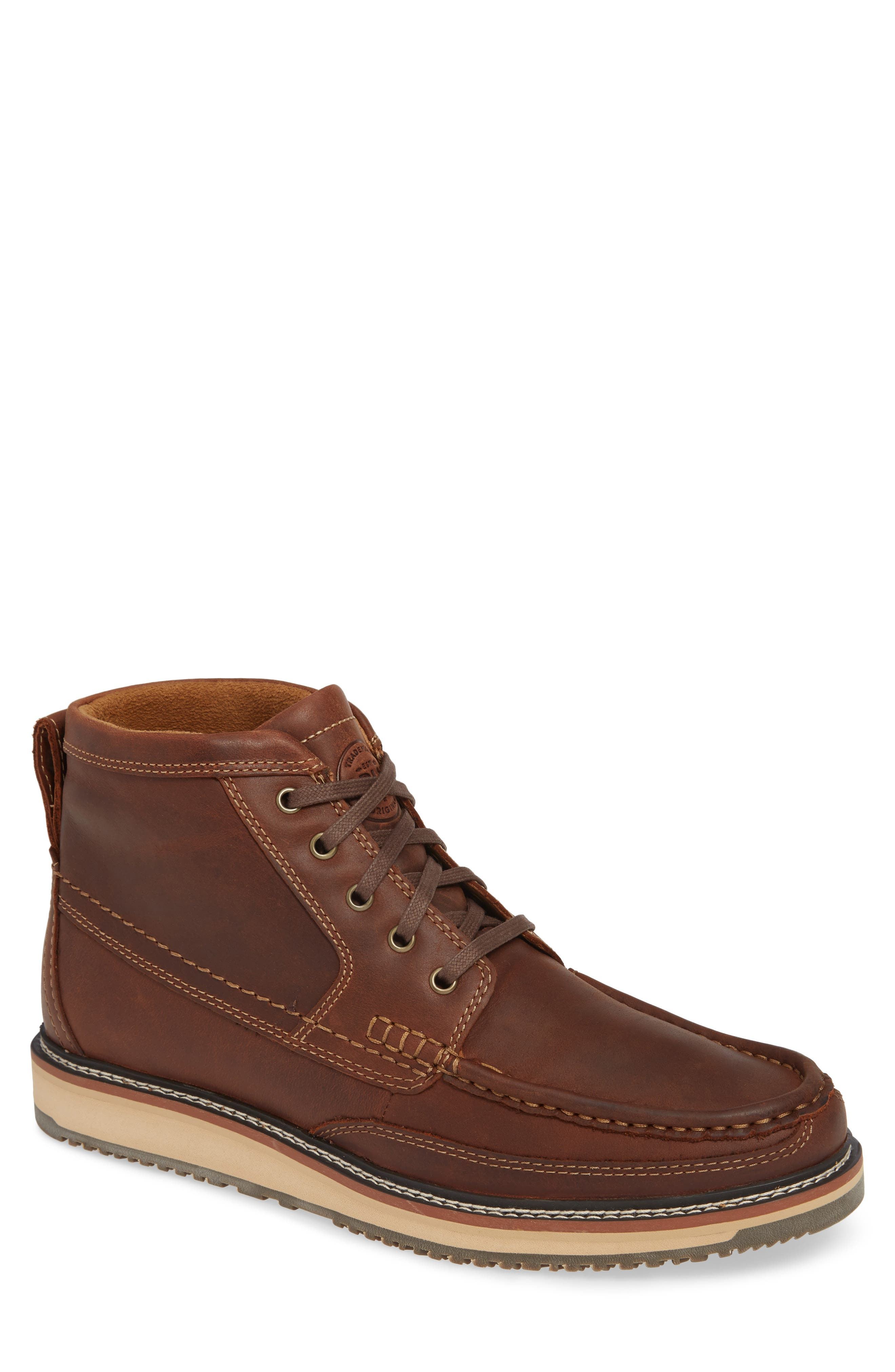 'Lookout' Moc Toe Boot,                             Main thumbnail 1, color,                             FOOTHILL BROWN LEATHER