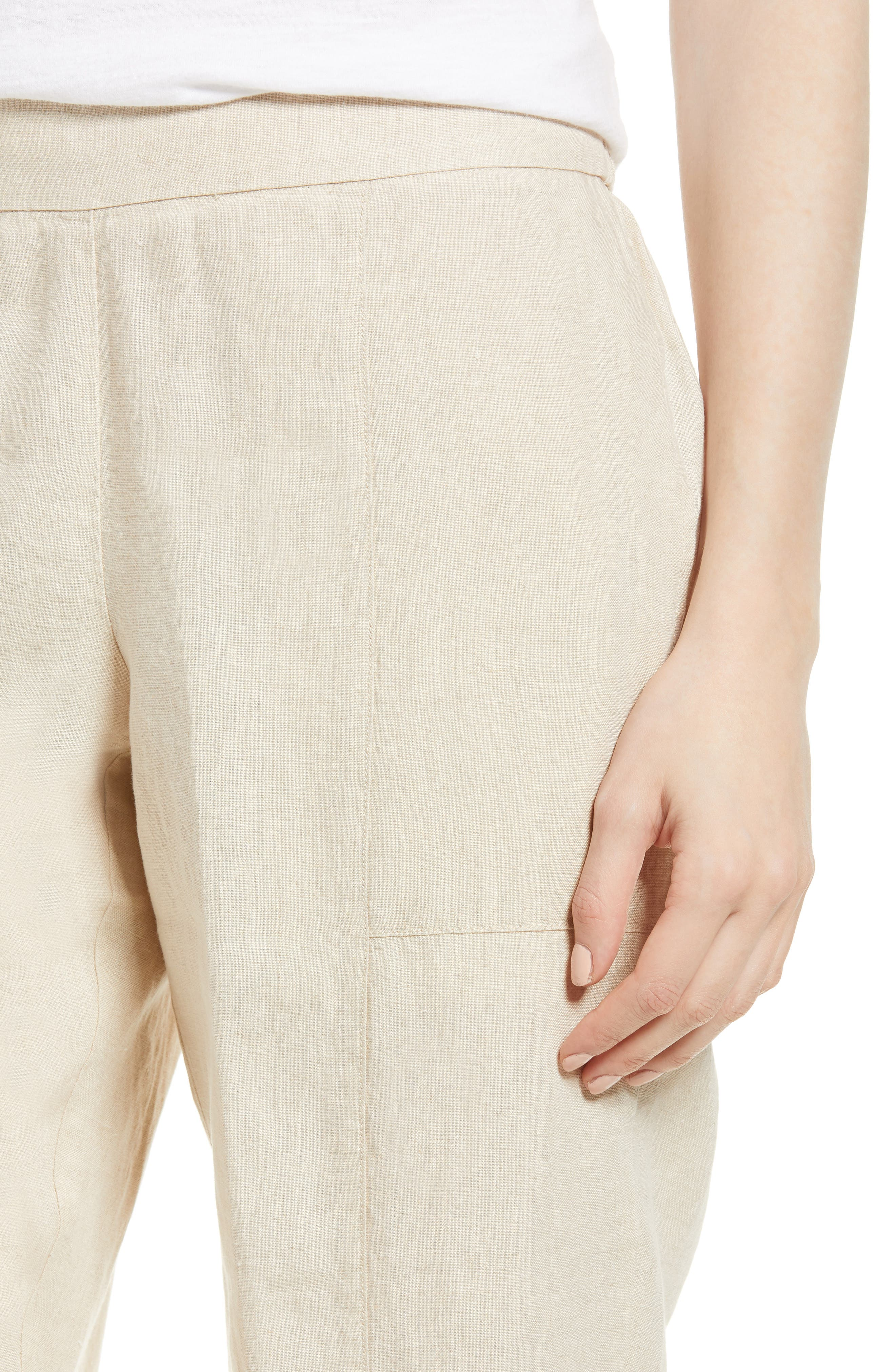 Organic Linen Crop Pants,                             Alternate thumbnail 17, color,