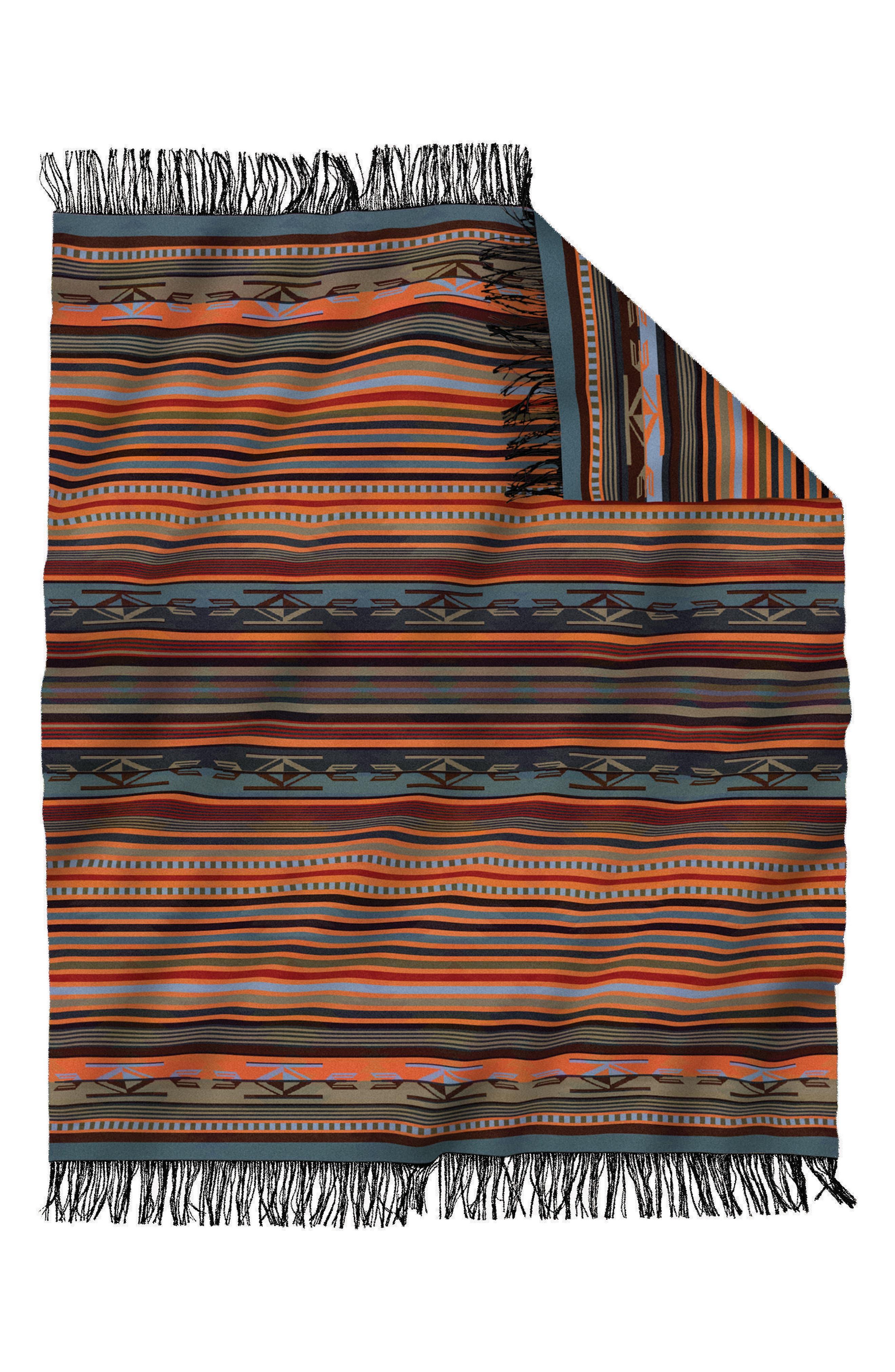 'Chimayo' Fringe Wool Throw,                             Alternate thumbnail 3, color,                             200