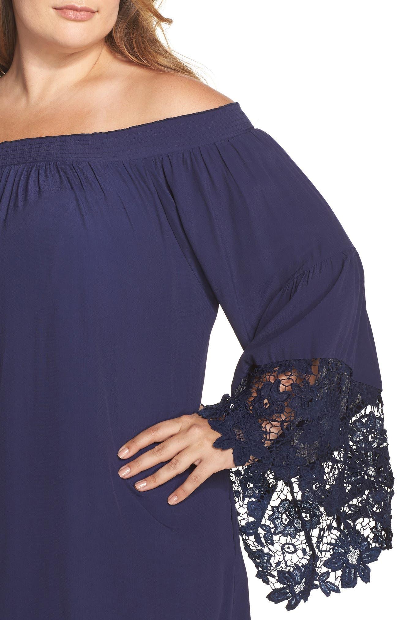 Jolie Lace Accent Cover-Up Dress,                             Alternate thumbnail 11, color,