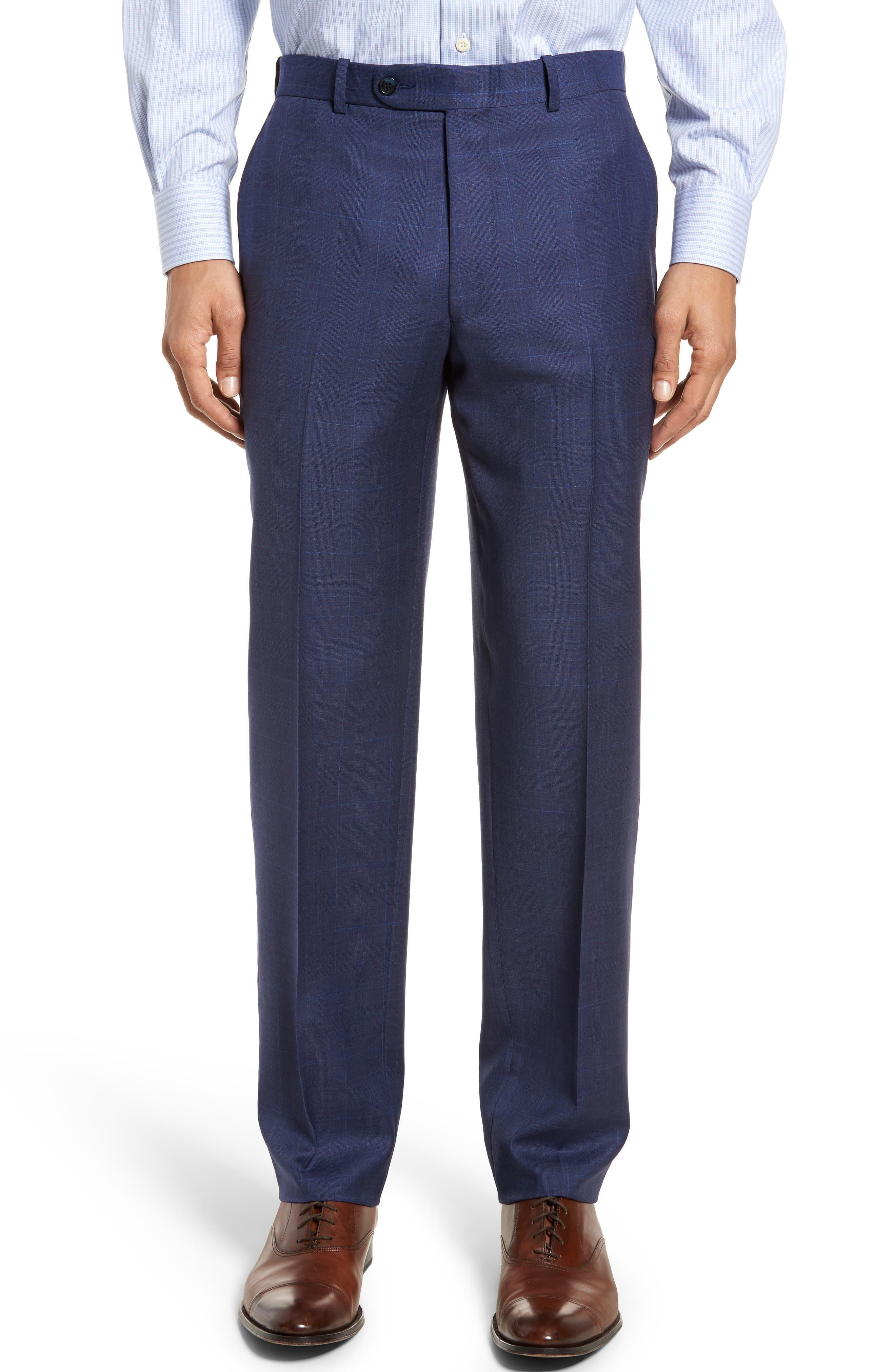 Classic Fit Plaid Wool Suit,                             Alternate thumbnail 6, color,