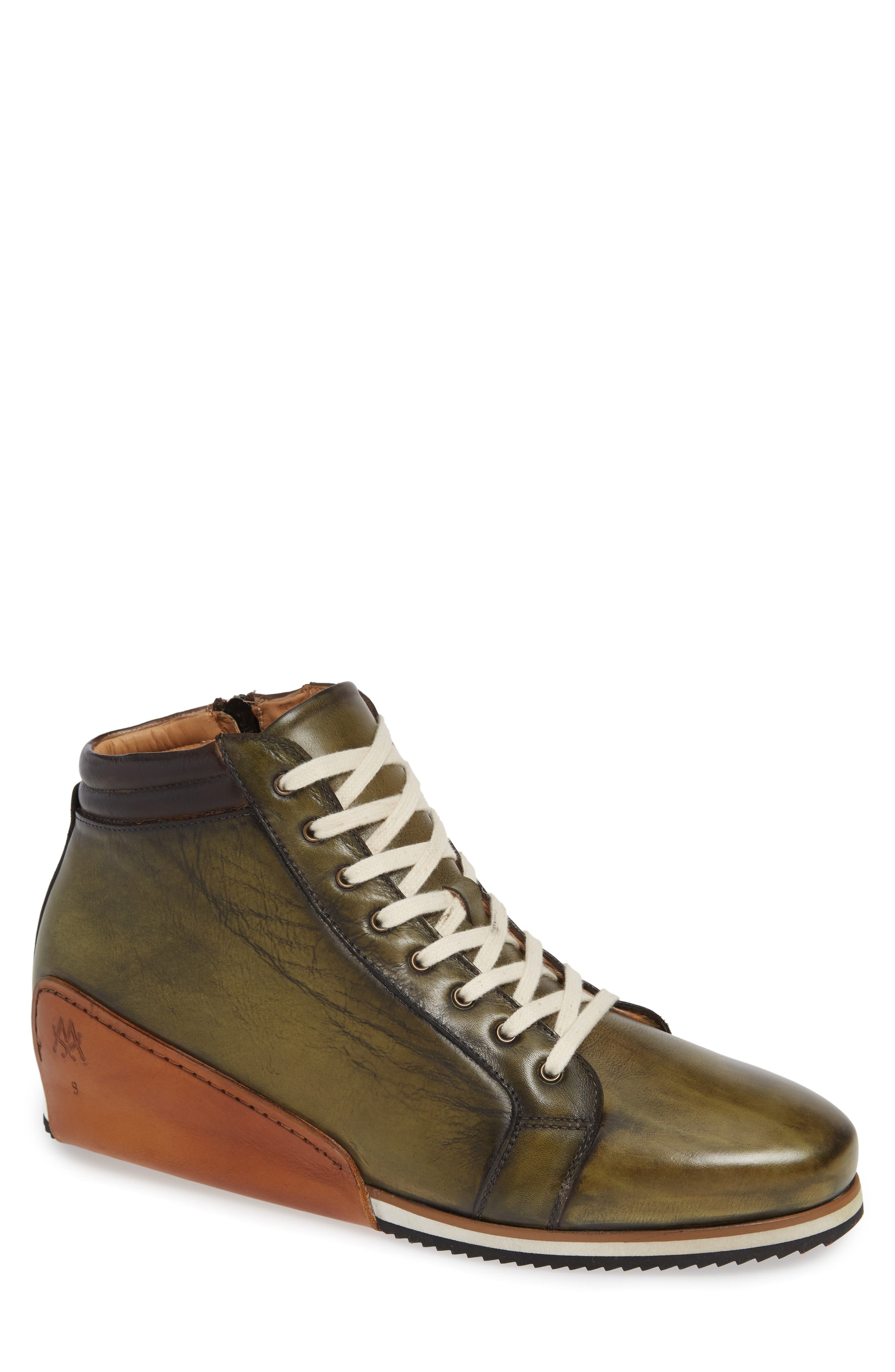Niro Sneaker in Olive Leather
