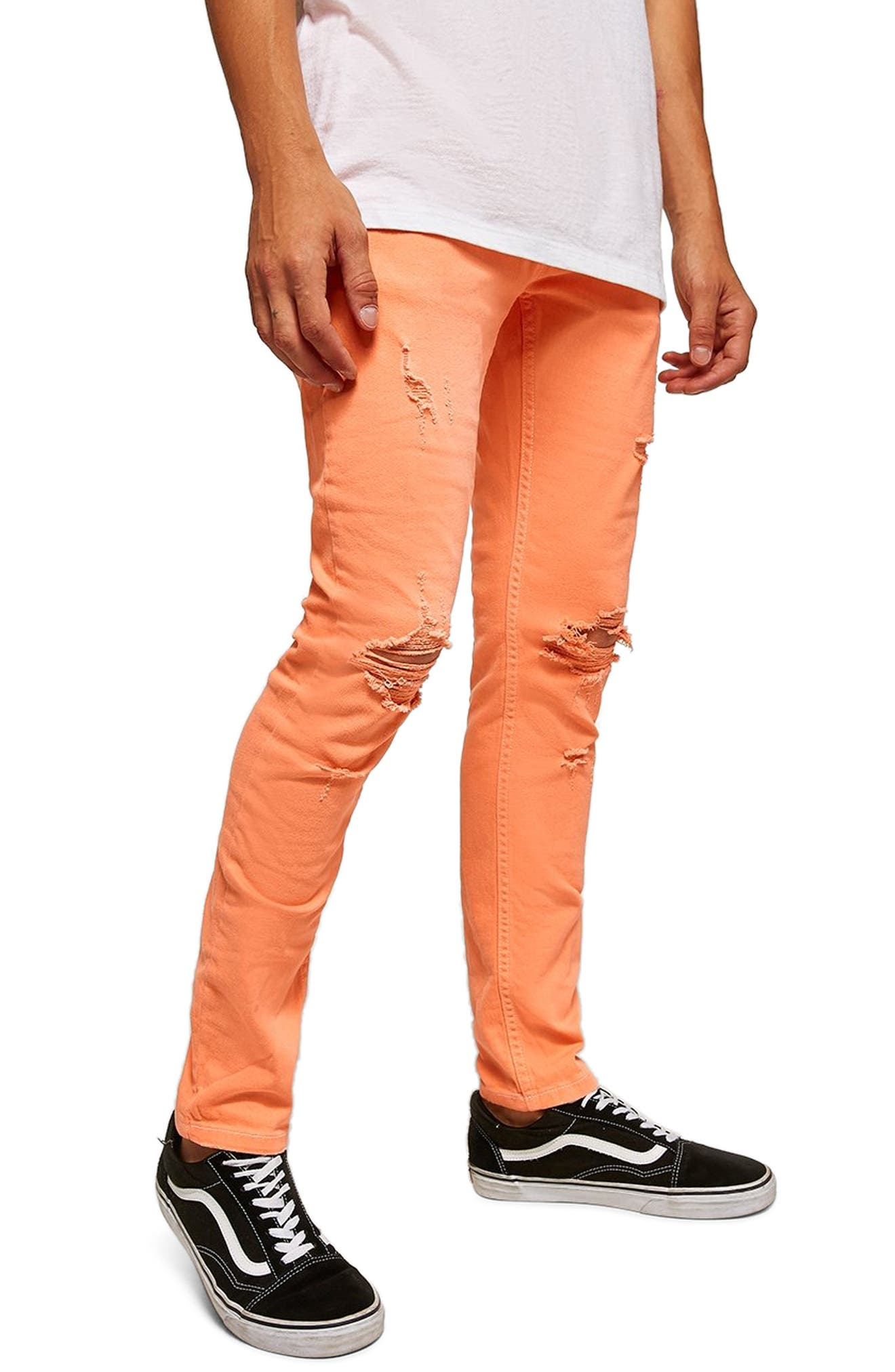 Ripped Skinny Fit Jeans,                             Main thumbnail 1, color,                             800