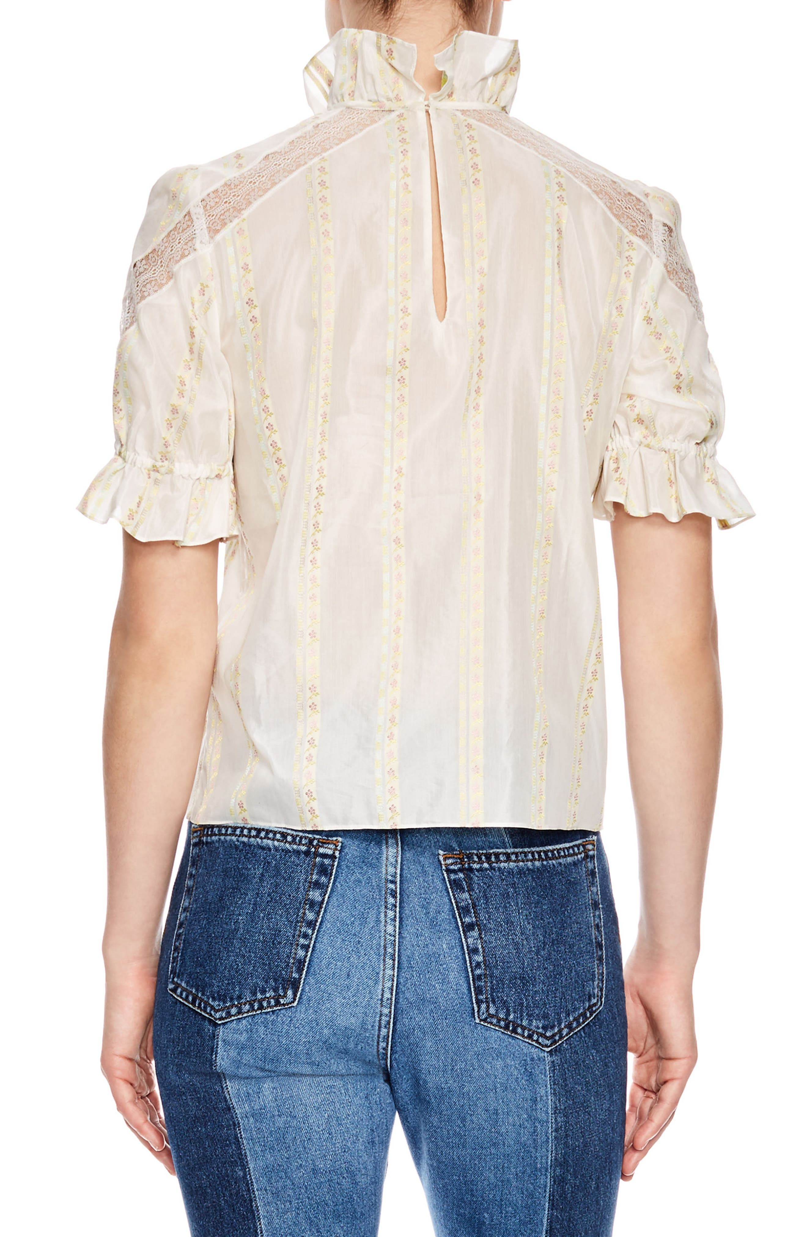 Ecru Lace Inset Blouse,                             Alternate thumbnail 2, color,                             900