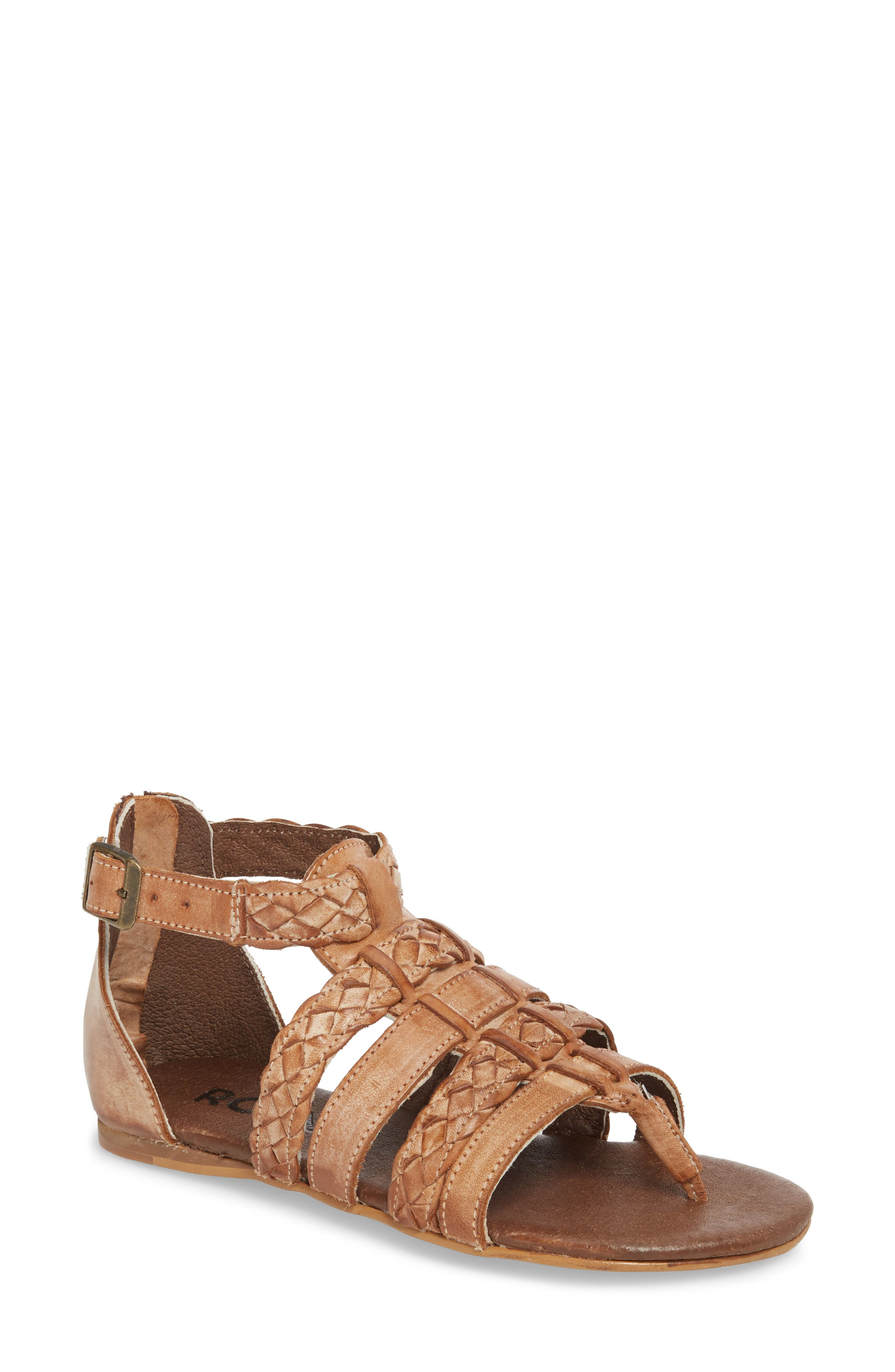 Kaliope Sandal,                         Main,                         color, VICTORIA COGNAC/ WHITE