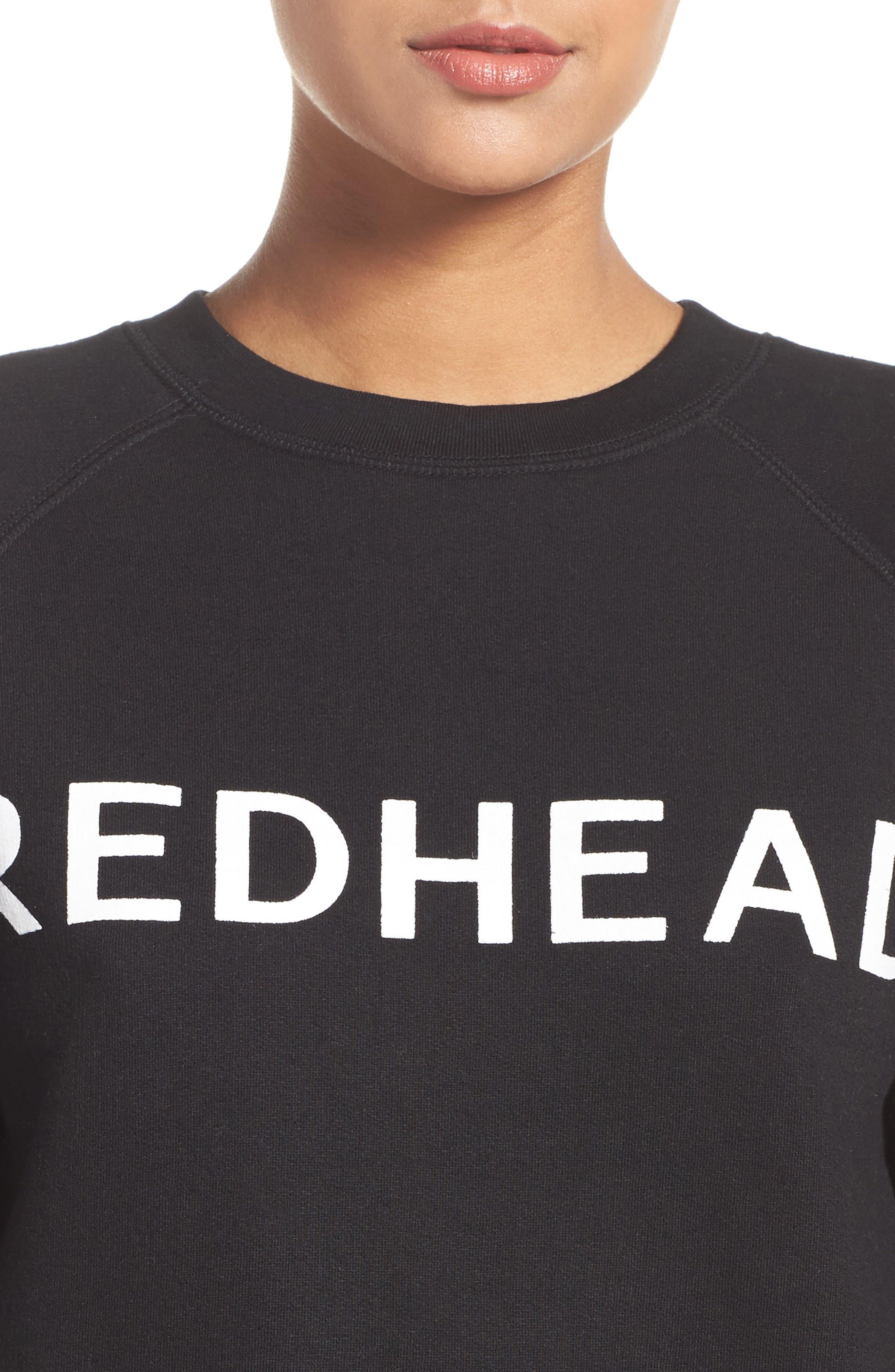 Redhead Lounge Sweatshirt,                             Alternate thumbnail 4, color,                             001