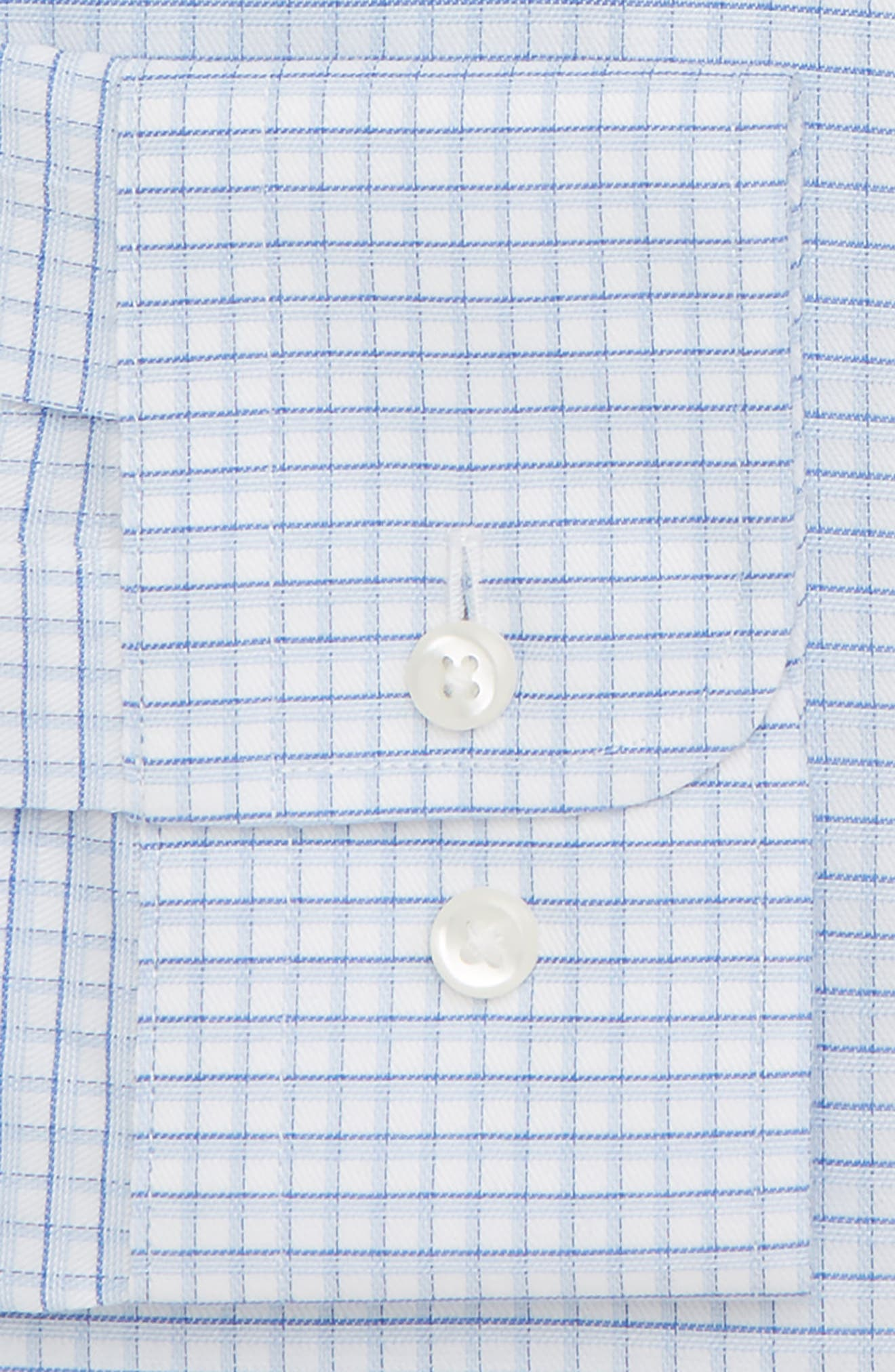 Smartcare<sup>™</sup> Trim Fit Check Dress Shirt,                             Alternate thumbnail 16, color,