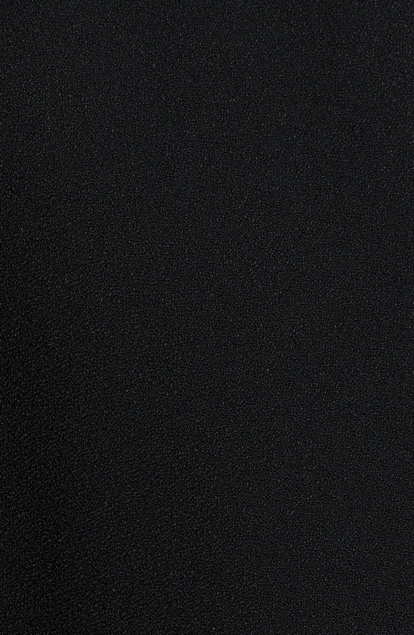 Guipure Lace Inset Crepe Dress,                             Alternate thumbnail 5, color,