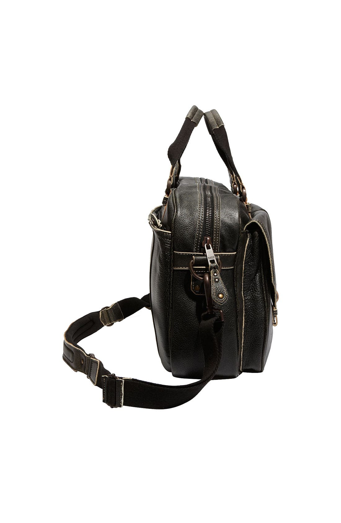 by Andrew Marc Accessories Leather Travel Bag,                             Alternate thumbnail 3, color,                             001