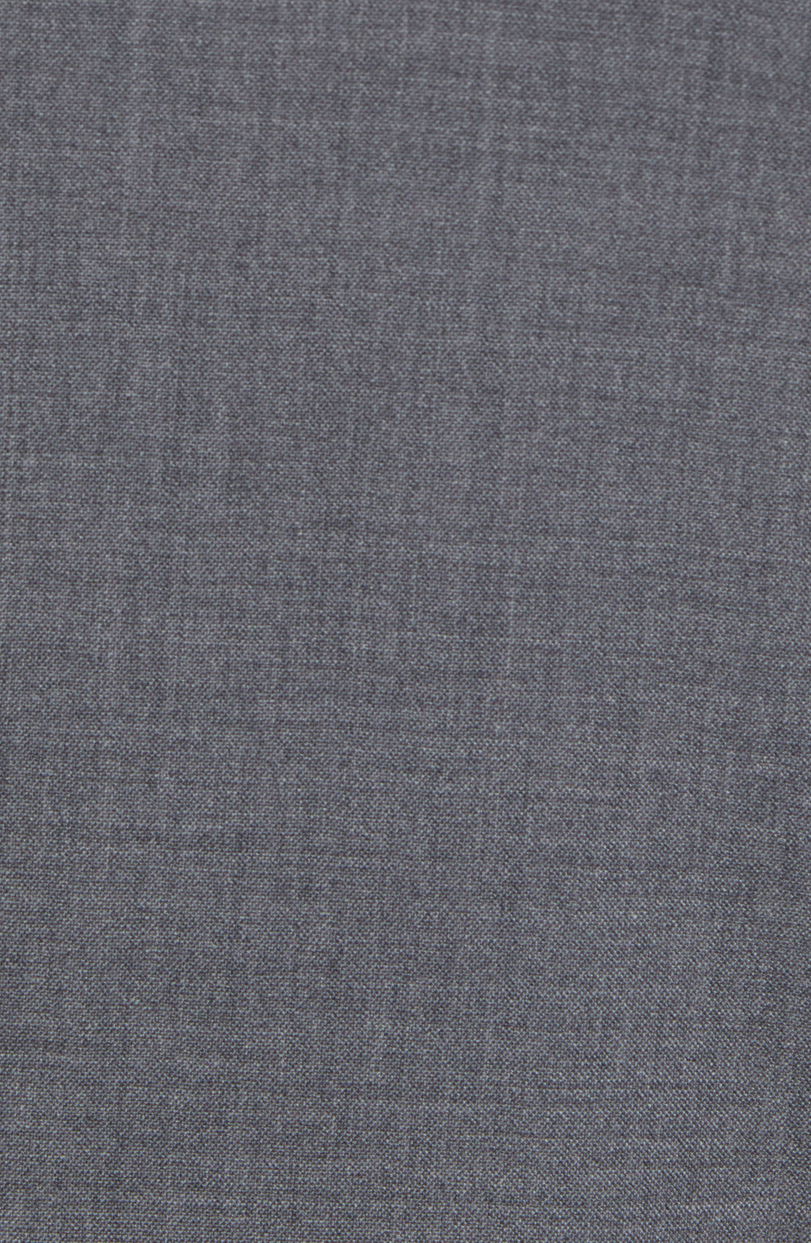 Trim Fit Solid Wool Suit,                             Alternate thumbnail 7, color,                             MEDIUM GREY
