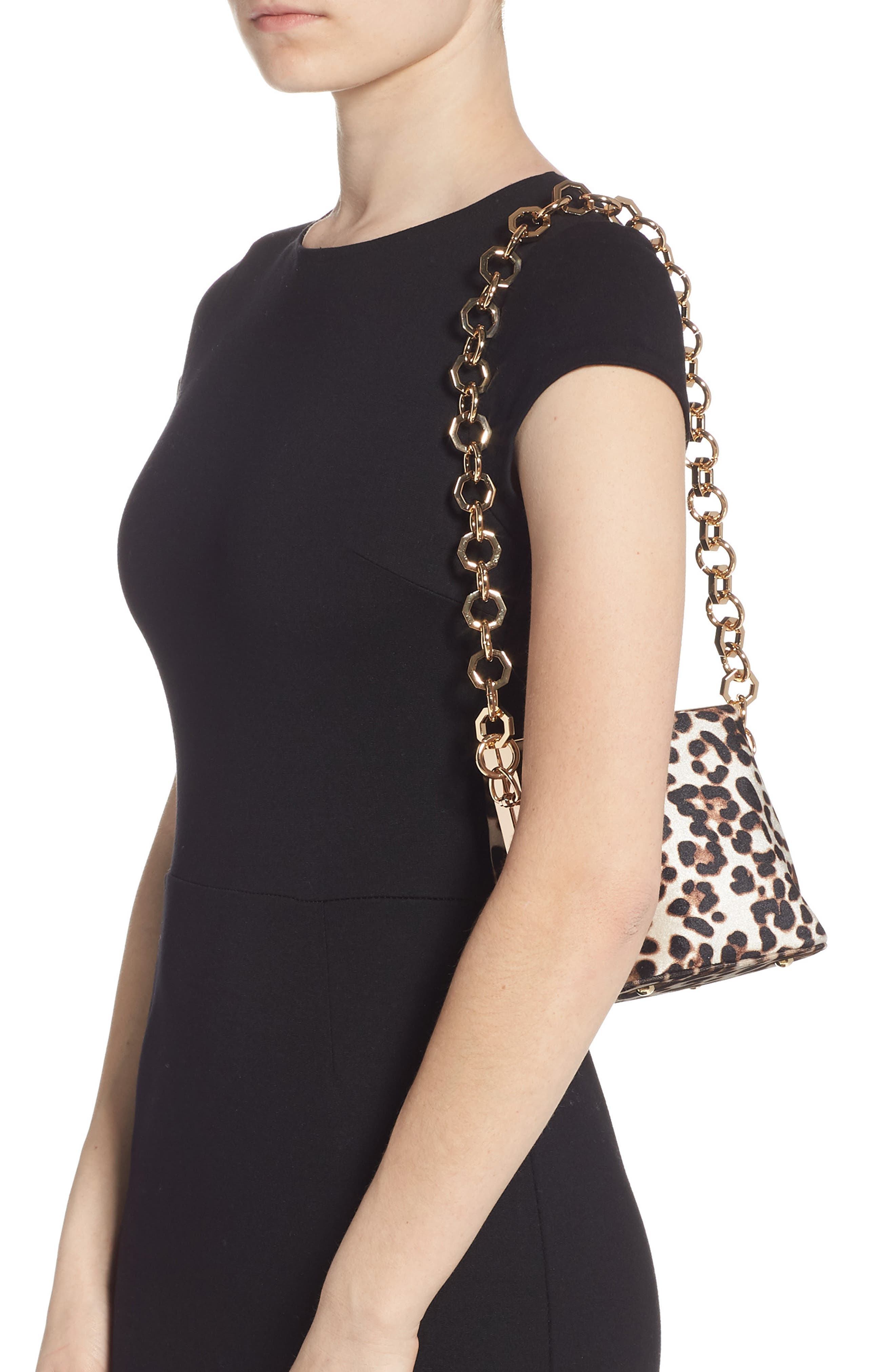 TOPSHOP,                             Margot Shoulder Bag,                             Alternate thumbnail 2, color,                             LEOPARD