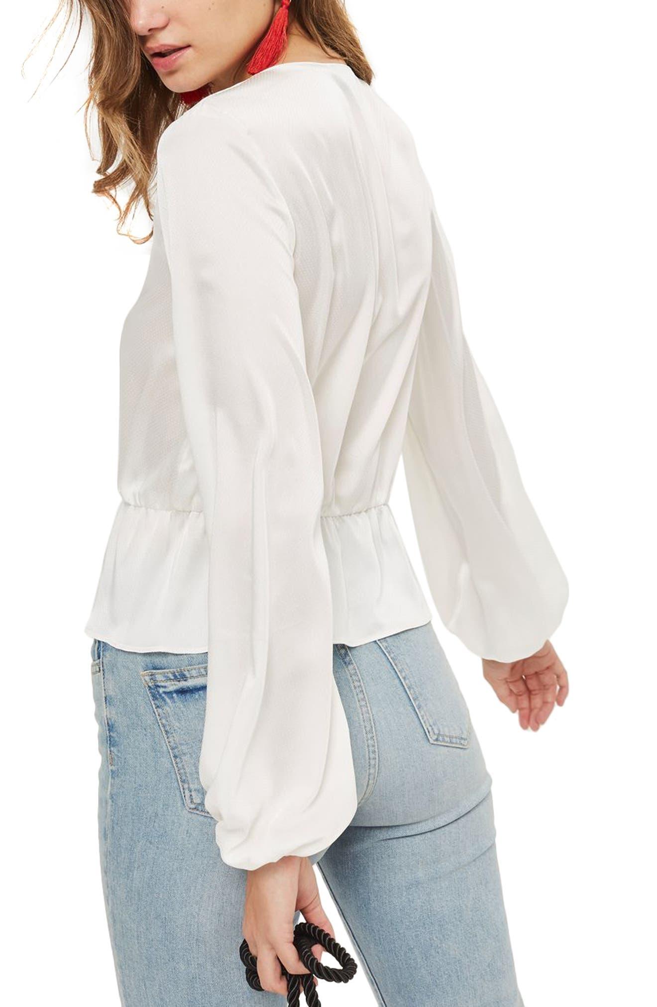 Emilia Blouson Sleeve Blouse,                             Alternate thumbnail 4, color,