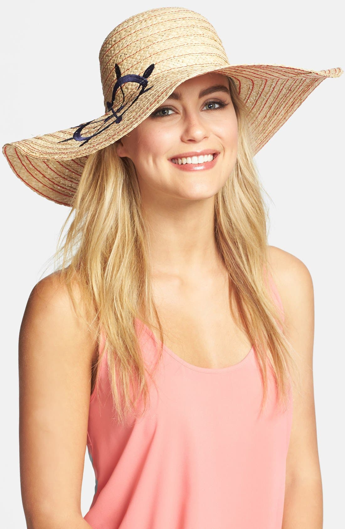 Embroidered Wheel Floppy Hat,                             Main thumbnail 1, color,                             400