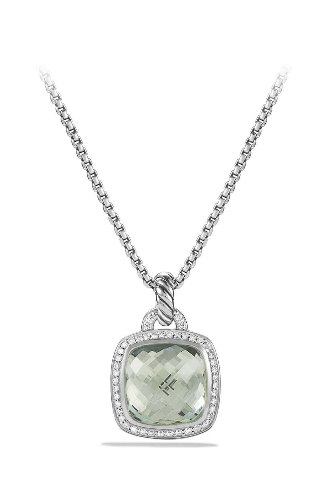 'Albion' Pendant with Semiprecious Stone and Diamonds,                         Main,                         color, PRASIOLITE