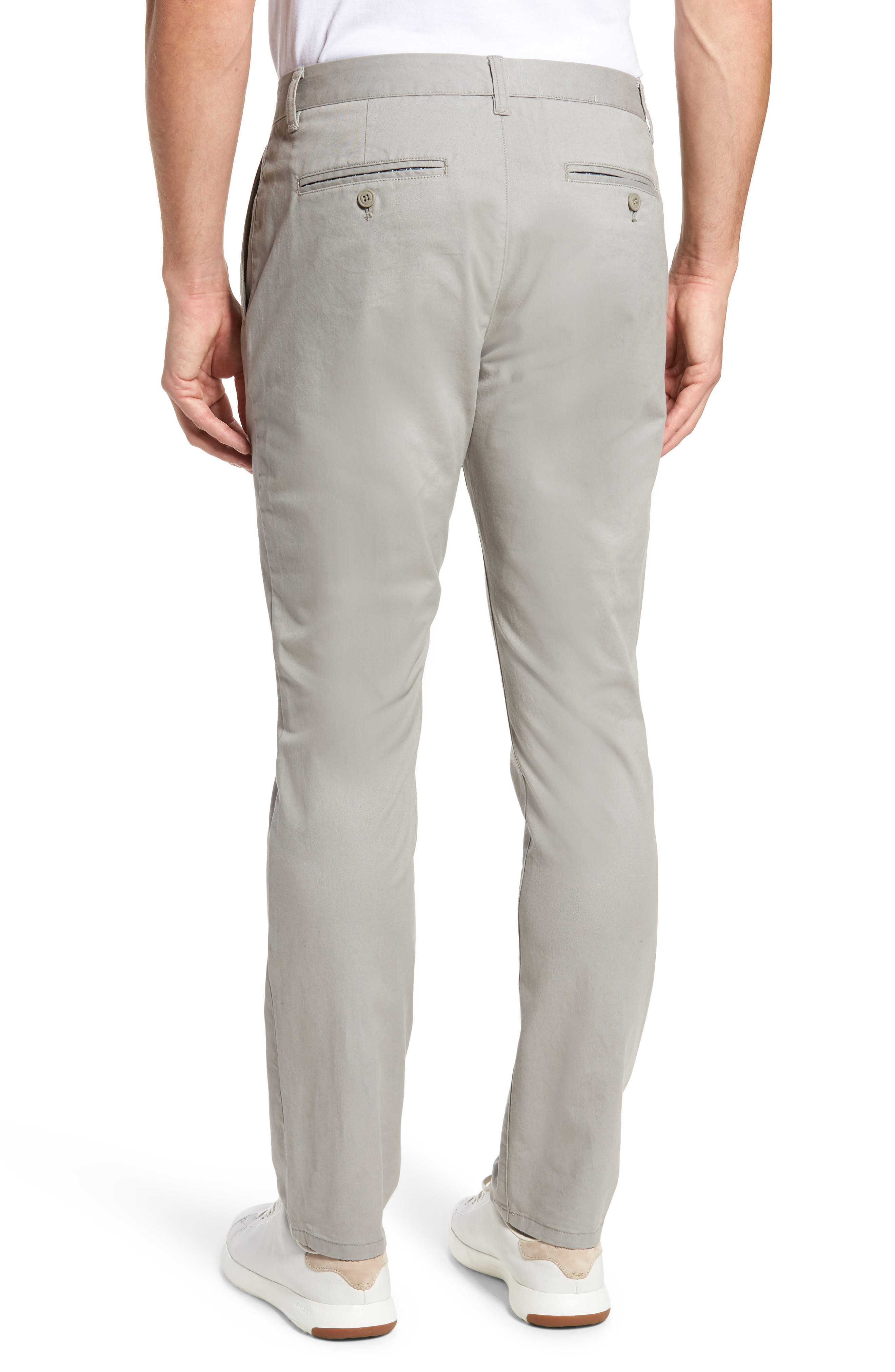 Tailored Fit Washed Stretch Cotton Chinos,                             Alternate thumbnail 62, color,
