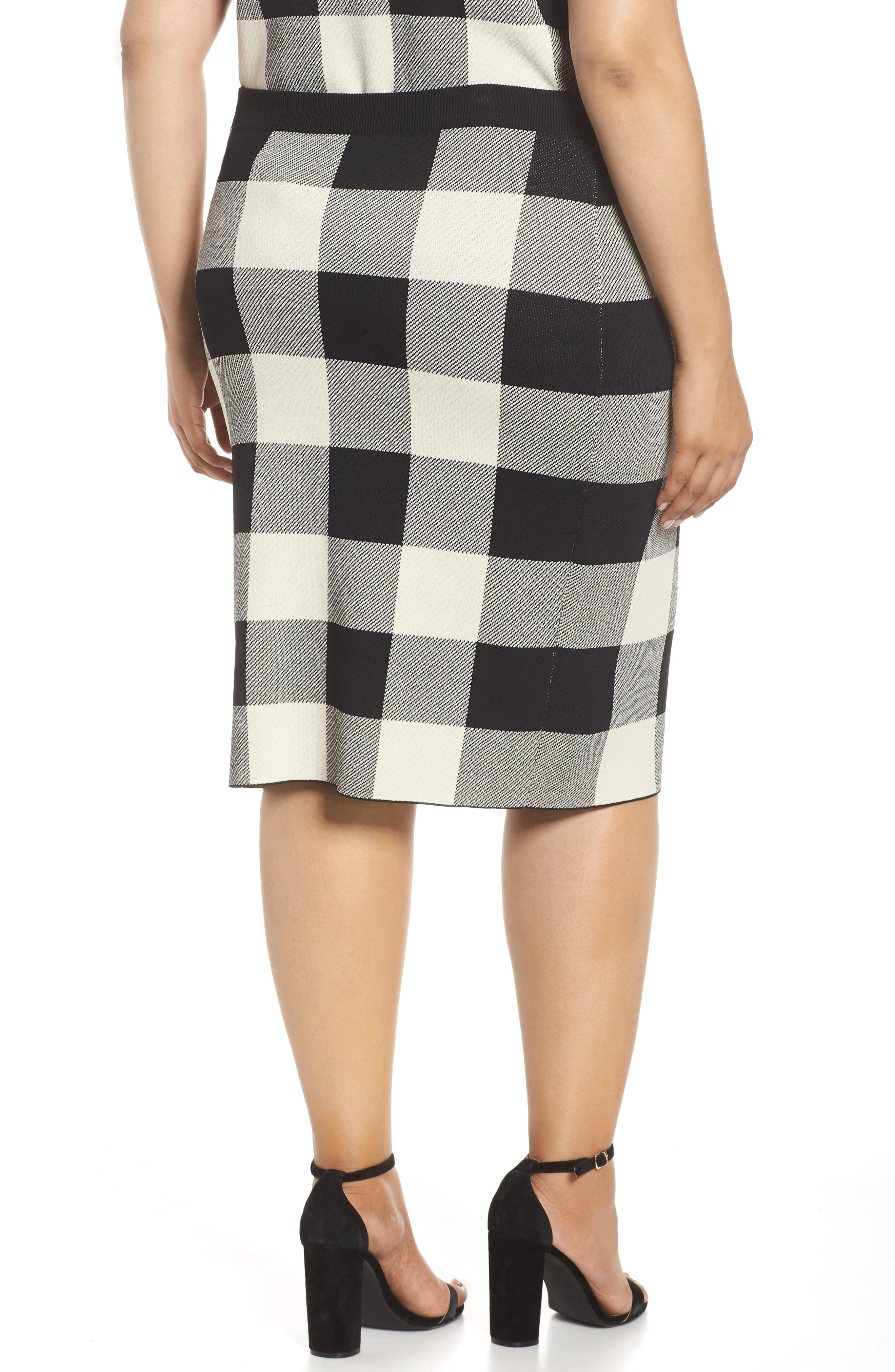 RACHEL RACHEL ROY,                             Raj Sweater Skirt,                             Alternate thumbnail 2, color,                             BLACK/CREAM