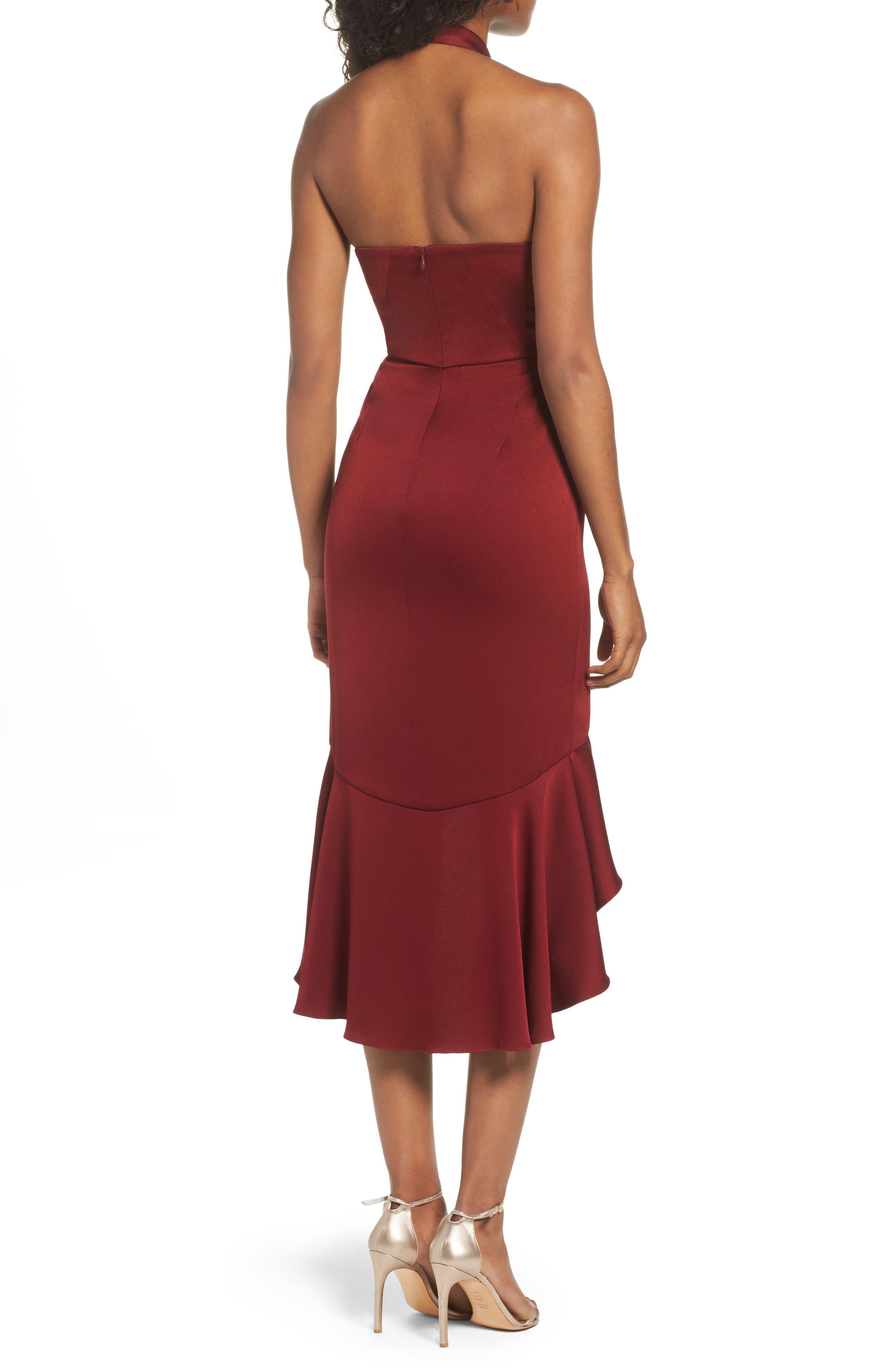 Boswell High/Low Halter Dress,                             Alternate thumbnail 2, color,