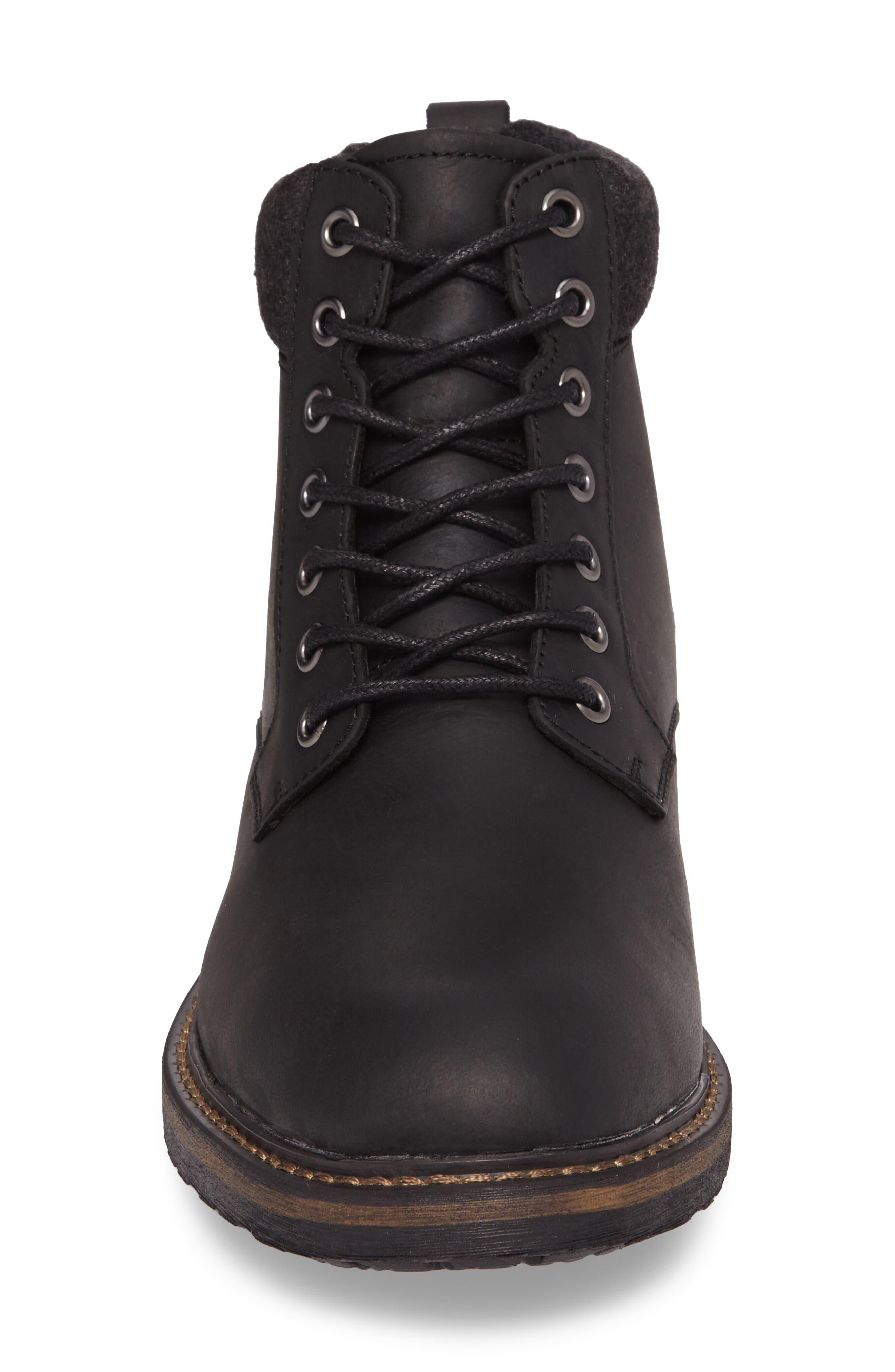 Grant Boot,                             Alternate thumbnail 4, color,                             BLACK LEATHER