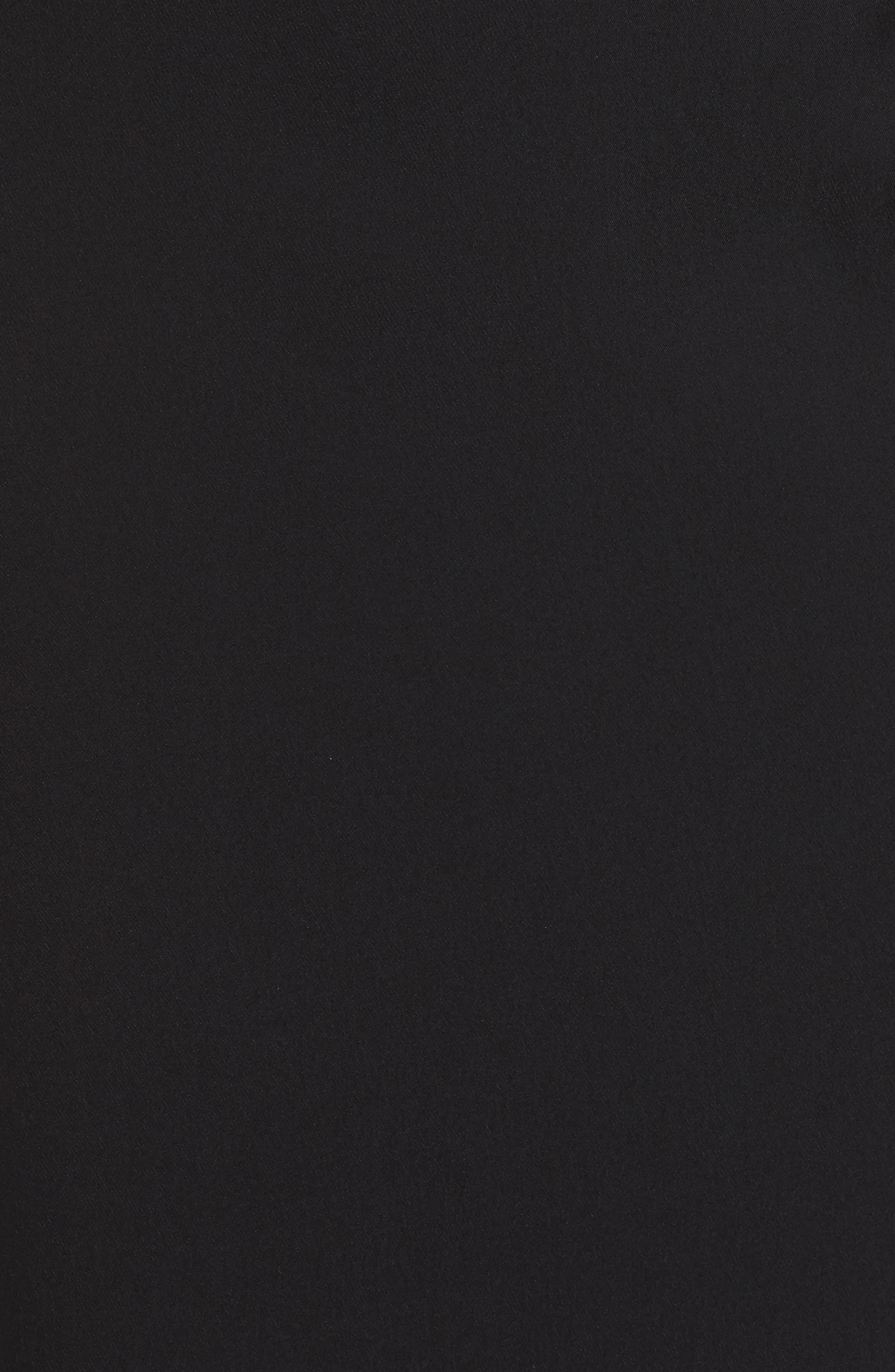 Crepe & Sequin Gown,                             Alternate thumbnail 6, color,                             BLACK/ GOLD