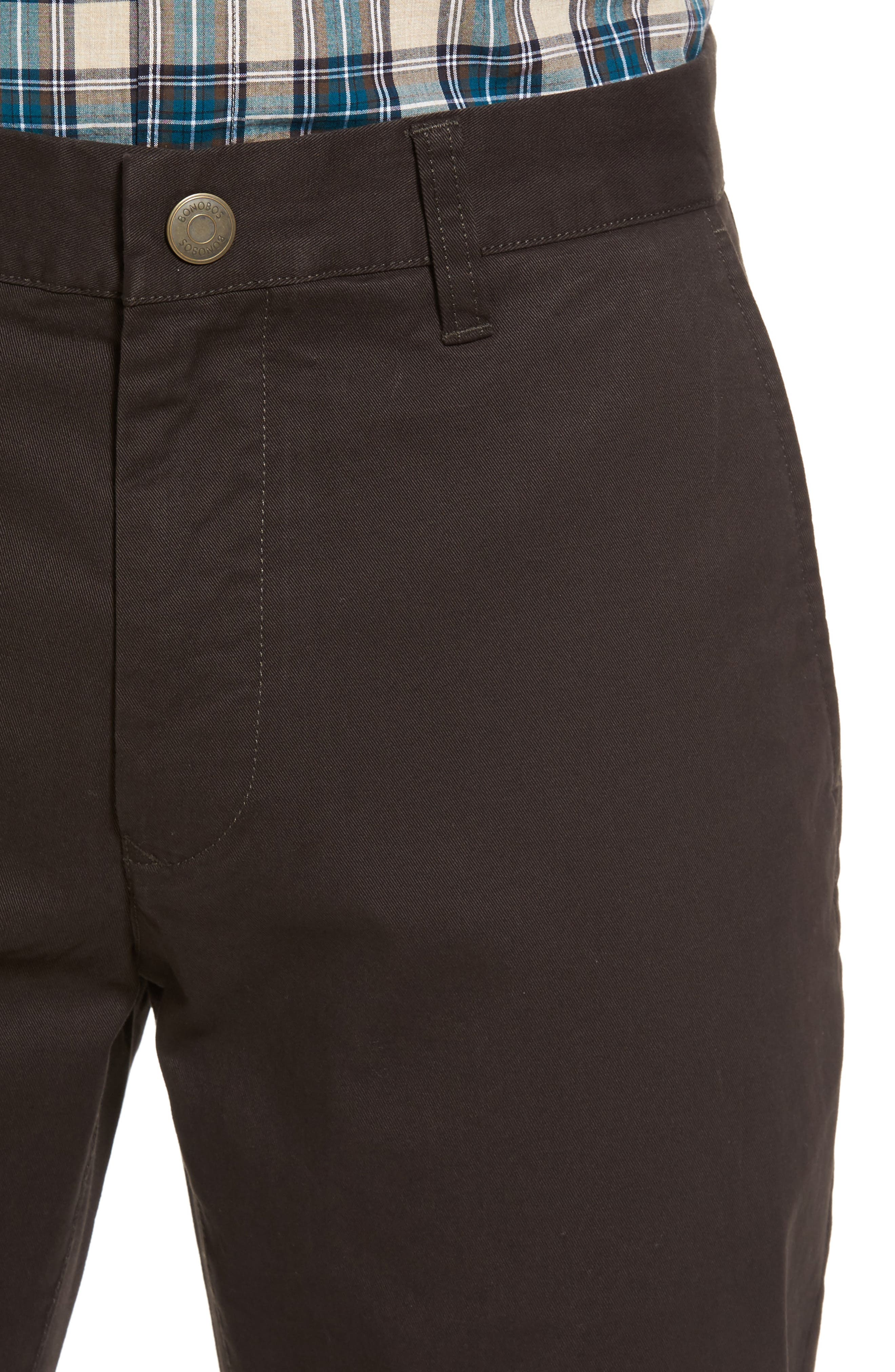 Tailored Fit Washed Stretch Cotton Chinos,                             Alternate thumbnail 108, color,