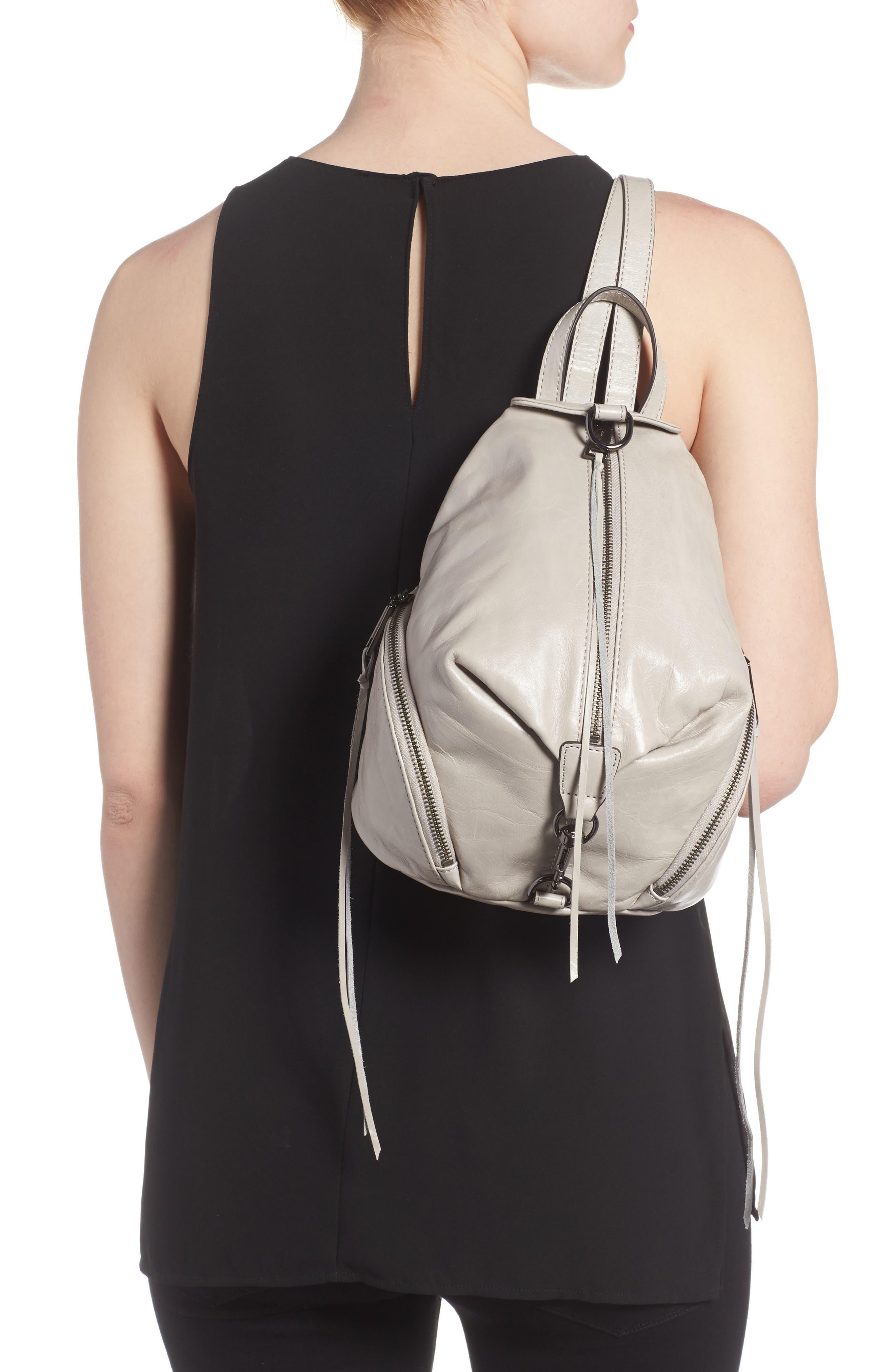 Medium Julian Leather Backpack,                             Alternate thumbnail 7, color,