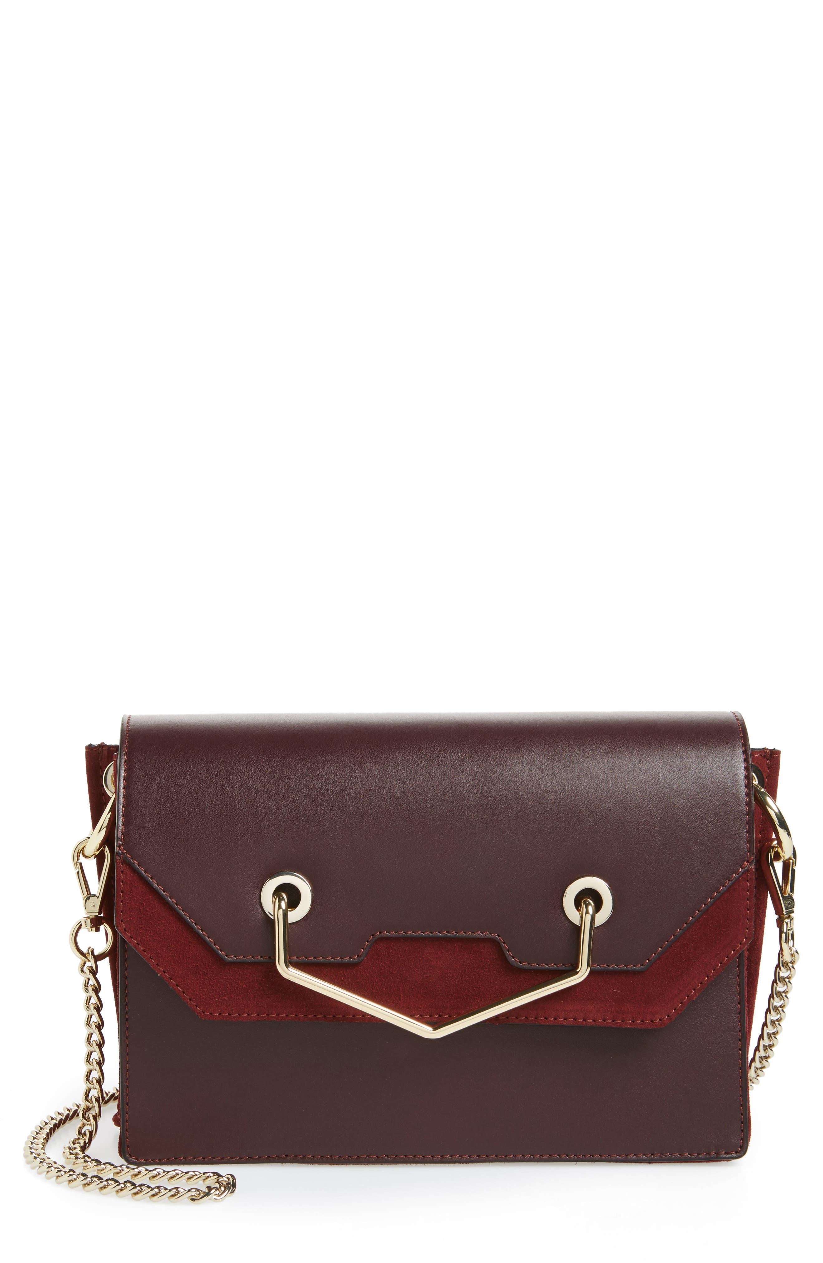 Premium Leather & Suede Soko Shoulder Bag,                         Main,                         color, 930