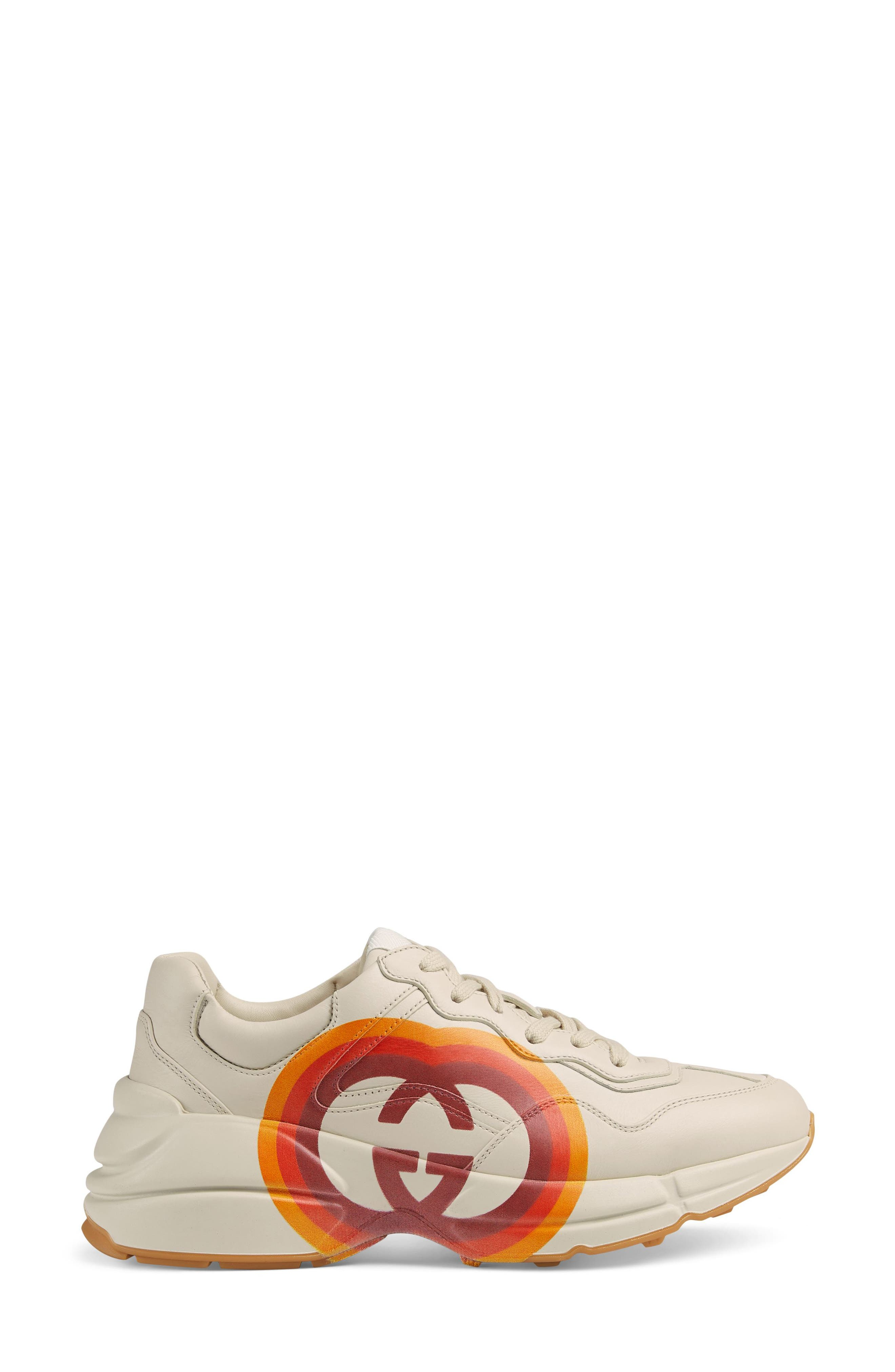 Rhyton Double G Sneaker,                             Alternate thumbnail 2, color,                             MYSTIC WHITE