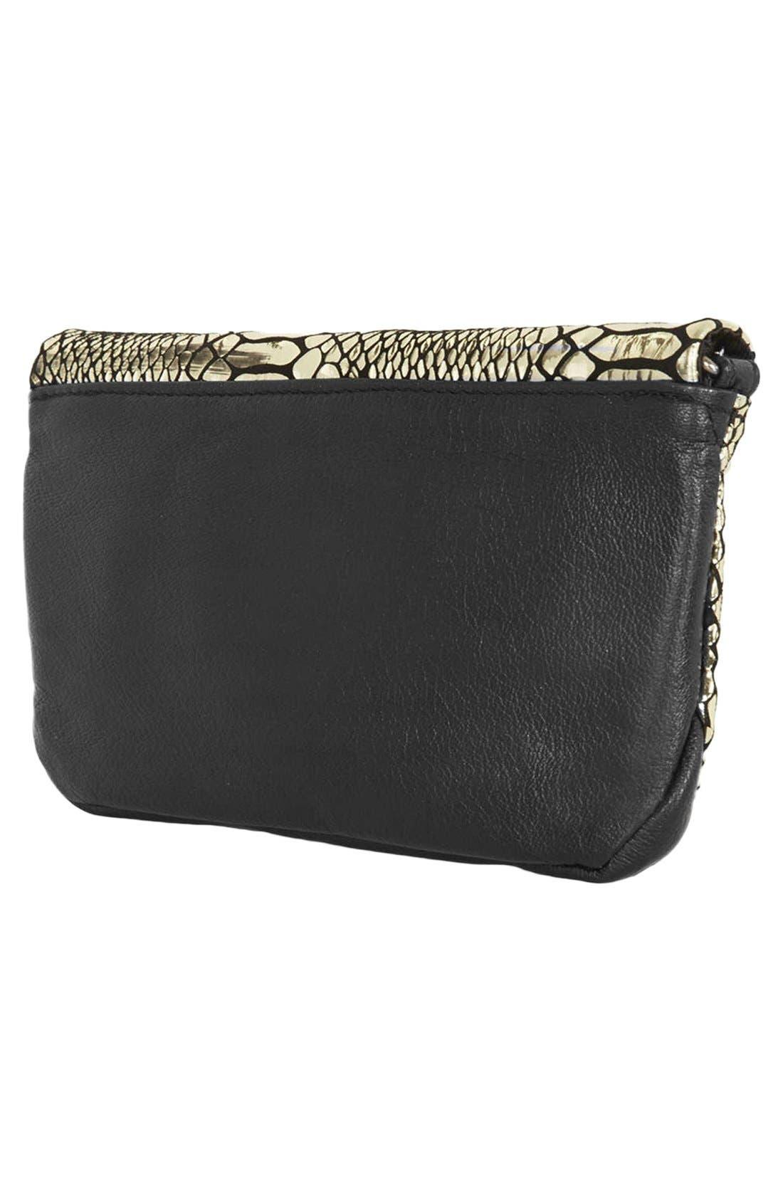 Leather Crossbody Bag,                             Alternate thumbnail 4, color,                             710