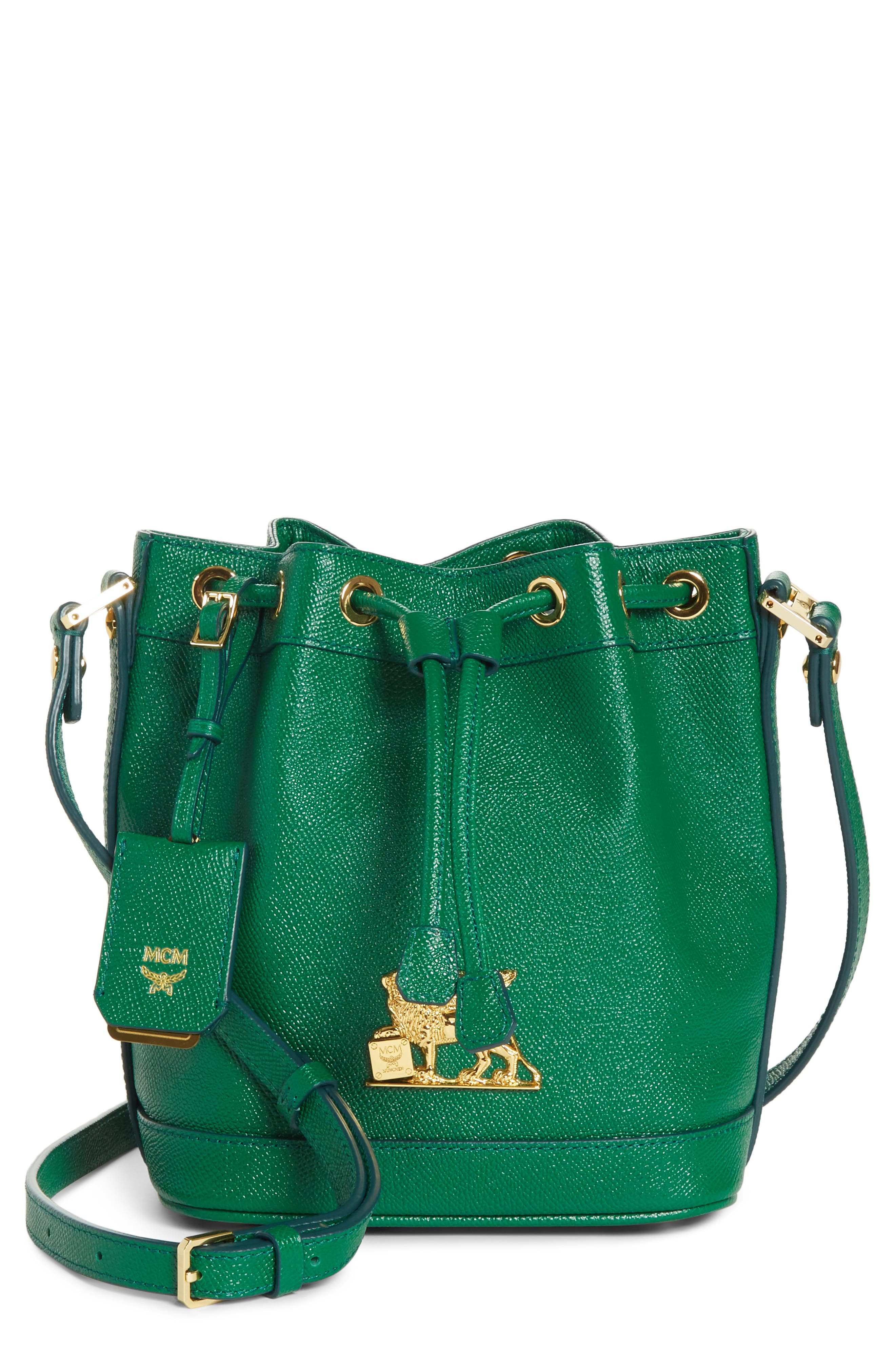 Mini RGB Drawstring Crossbody Bag,                             Main thumbnail 1, color,                             GREEN