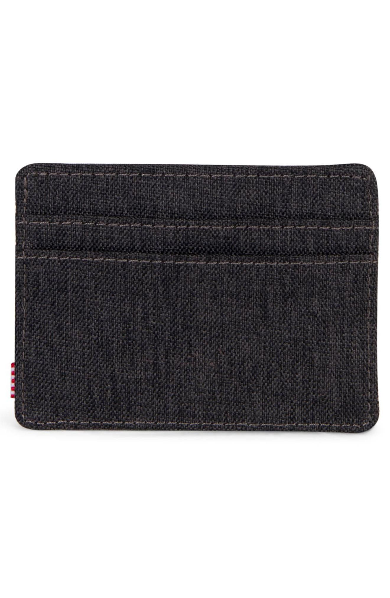 Charlie RFID Card Case,                             Alternate thumbnail 3, color,                             BLACK CROSSHATCH