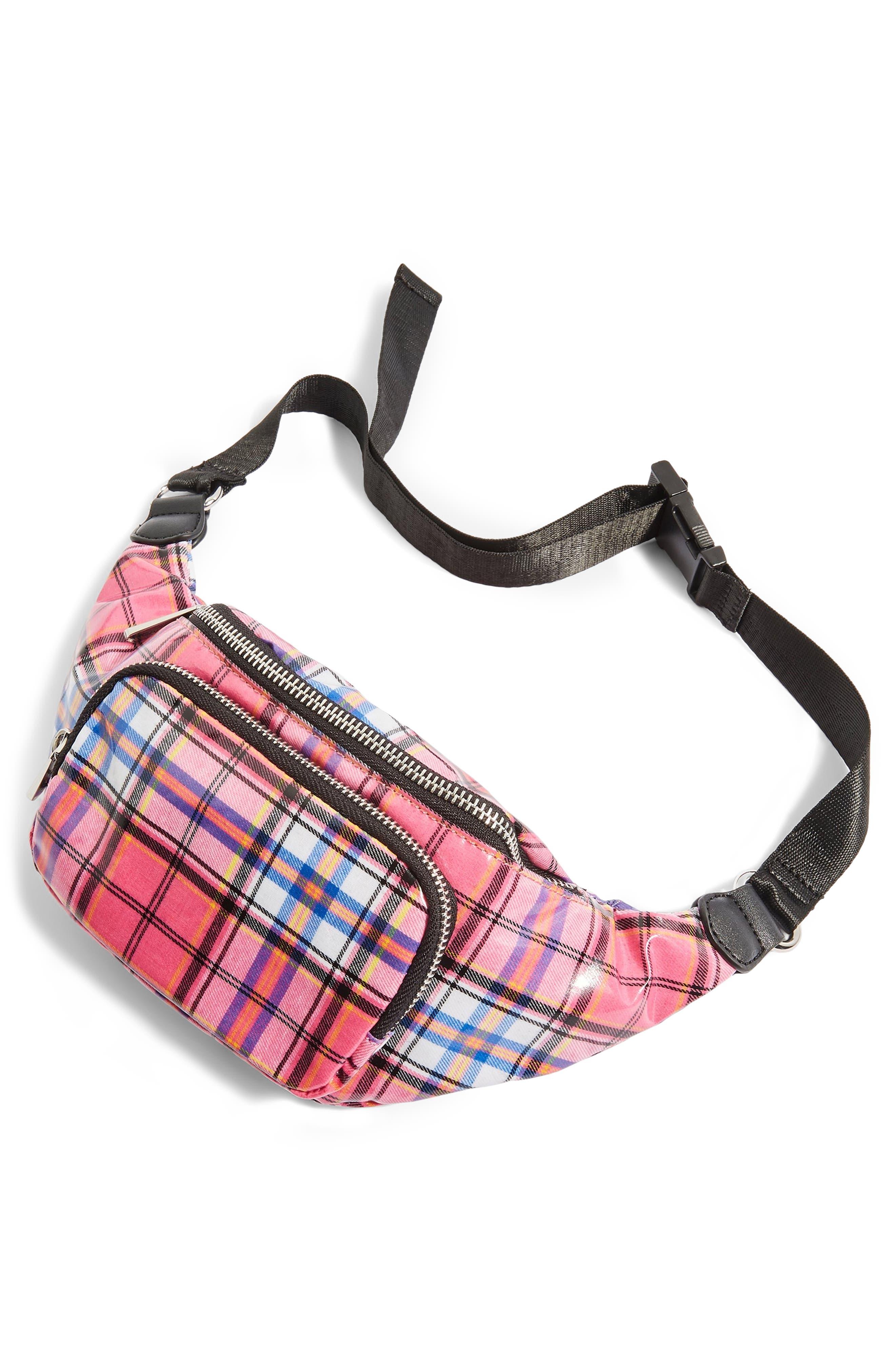 Callie Check Belt Bag,                             Alternate thumbnail 4, color,                             650
