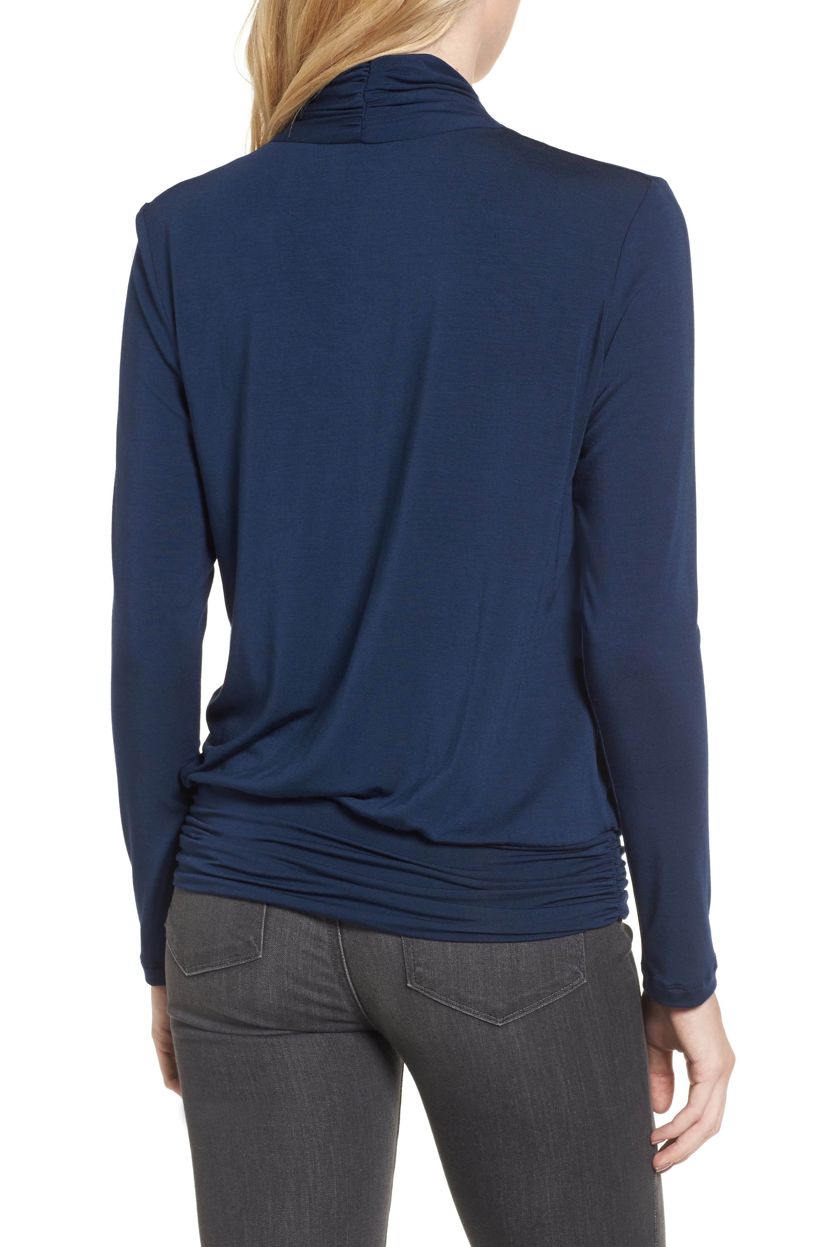 'Angela' Long Sleeve Wrap Front Top,                             Alternate thumbnail 2, color,                             450