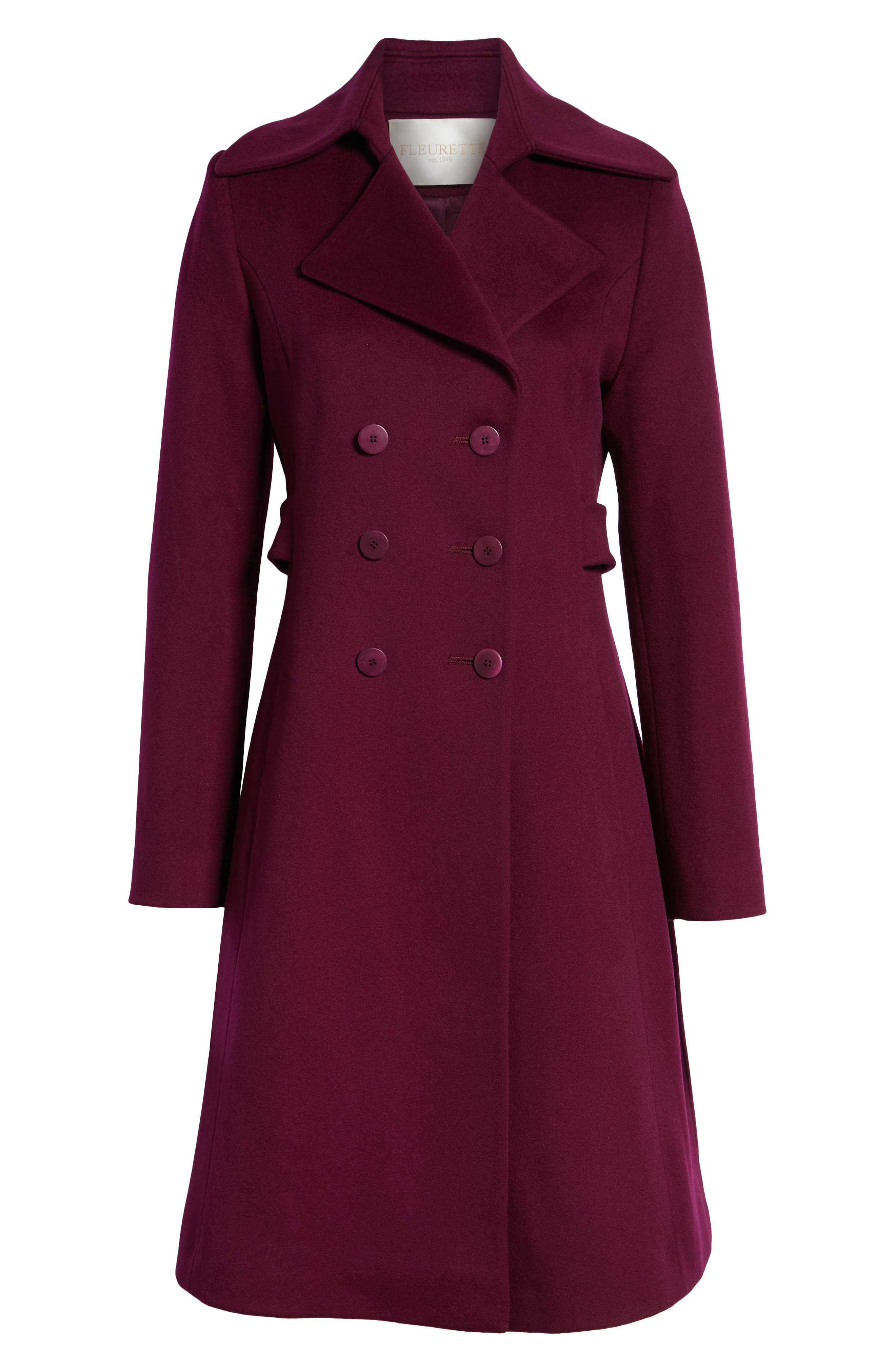Double Breasted Loro Piana Wool Coat,                             Alternate thumbnail 6, color,                             600