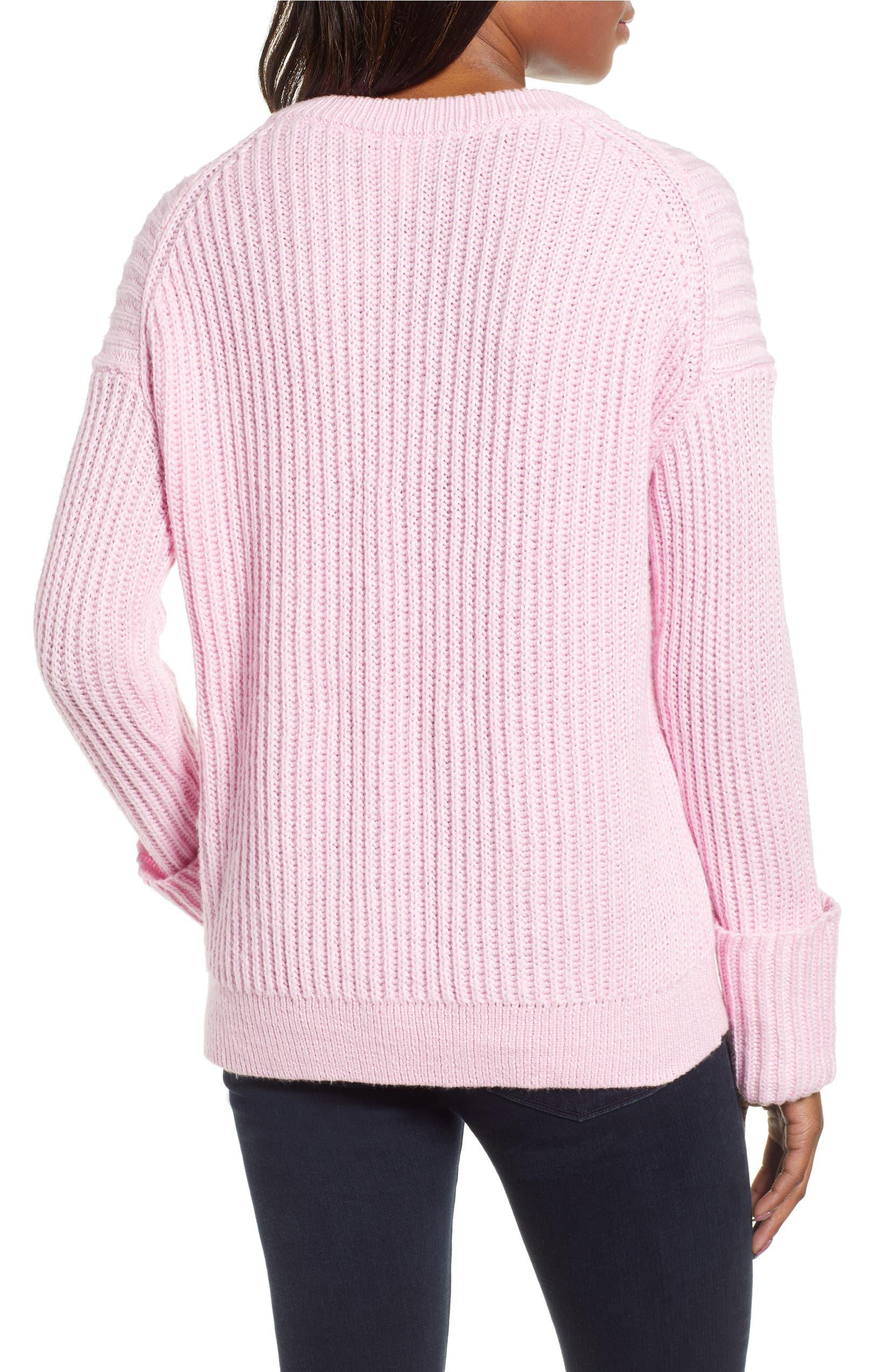 Caslon® Cuffed Sleeve Shaker Sweater (Regular   Petite)  0c1e1330d