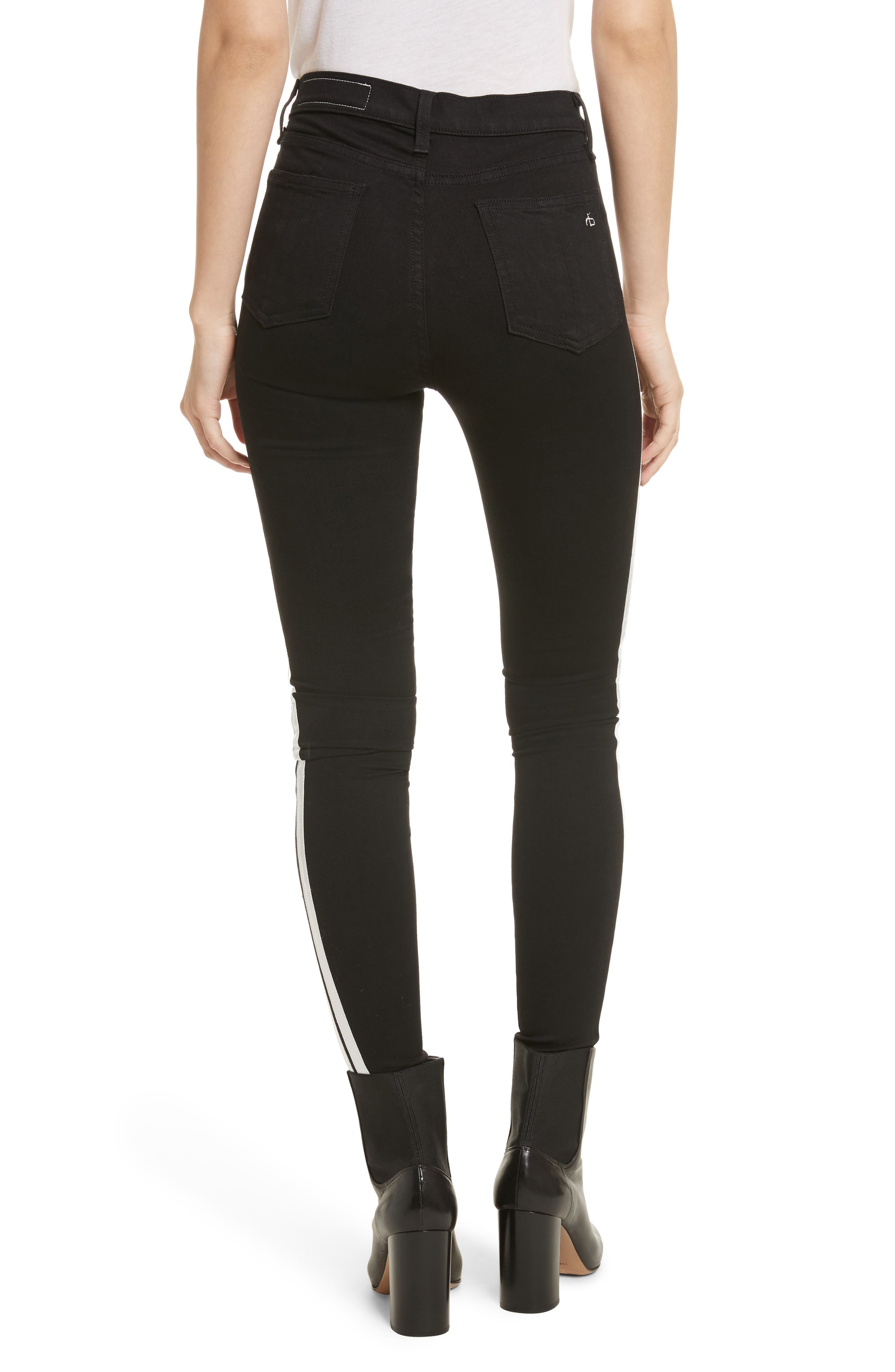 Mito High Waist Skinny Jeans,                             Alternate thumbnail 2, color,                             001