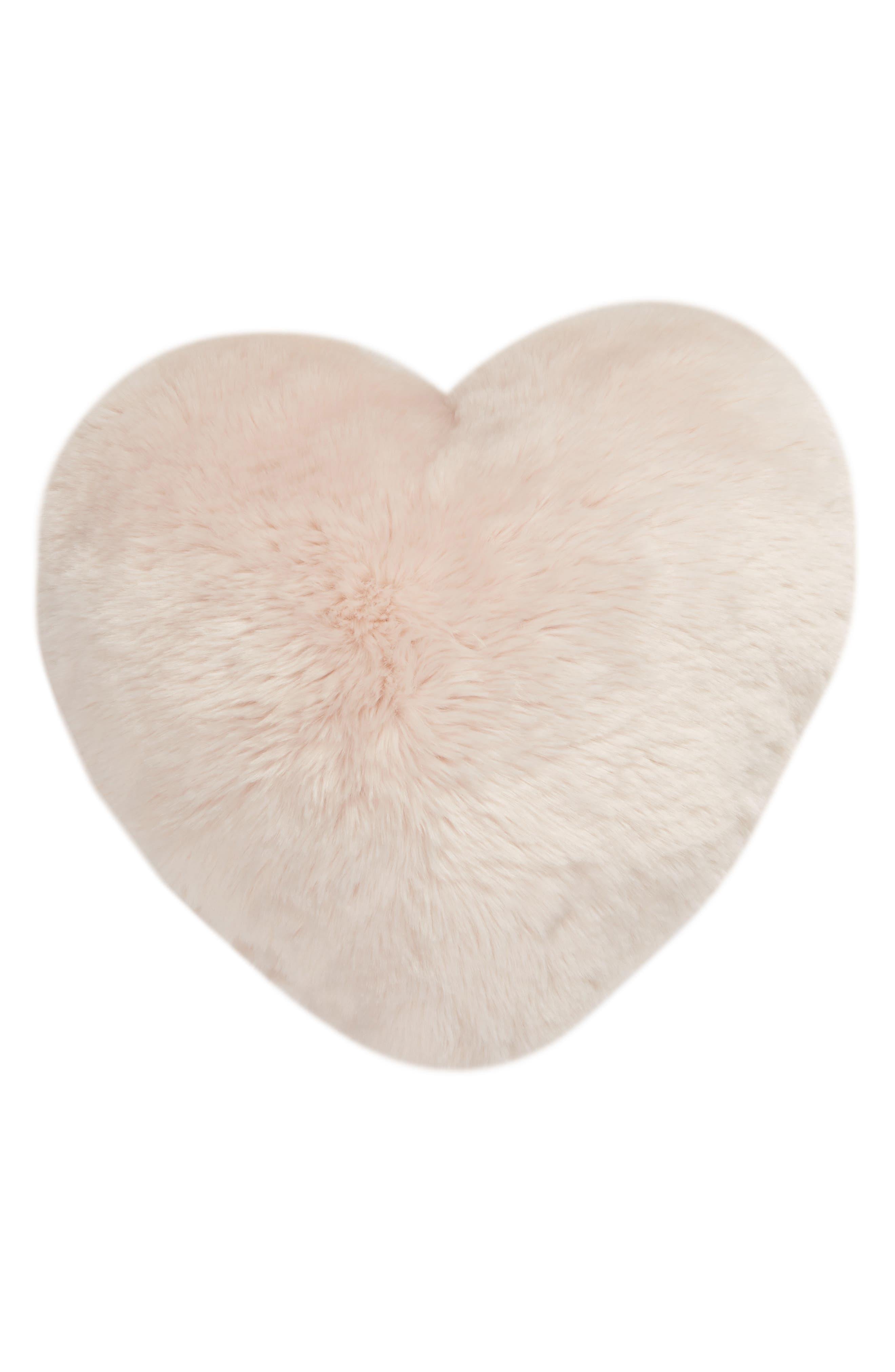 NORDSTROM AT HOME,                             Cuddle Up Faux Fur Heart Accent Pillow,                             Alternate thumbnail 2, color,                             PINK FROSTY