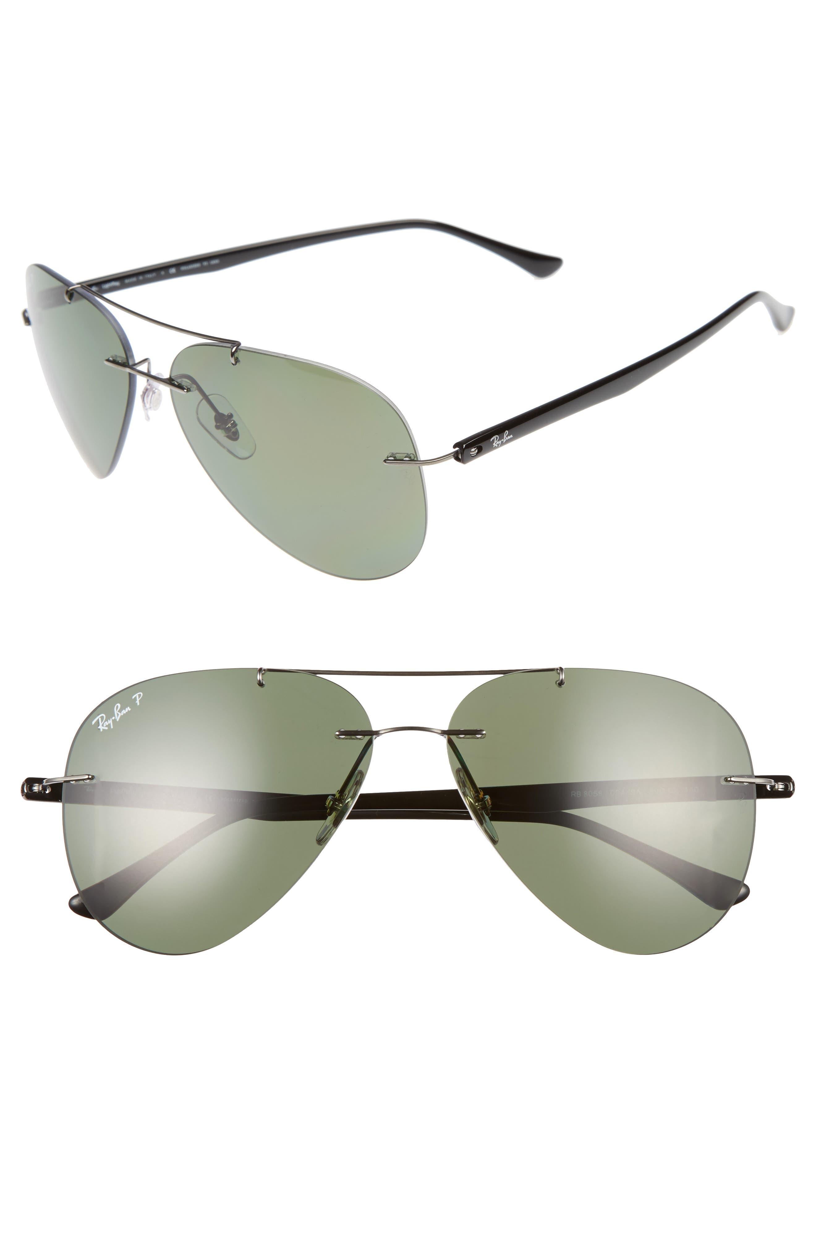 59mm Polarized Aviator Sunglasses,                             Main thumbnail 1, color,                             322