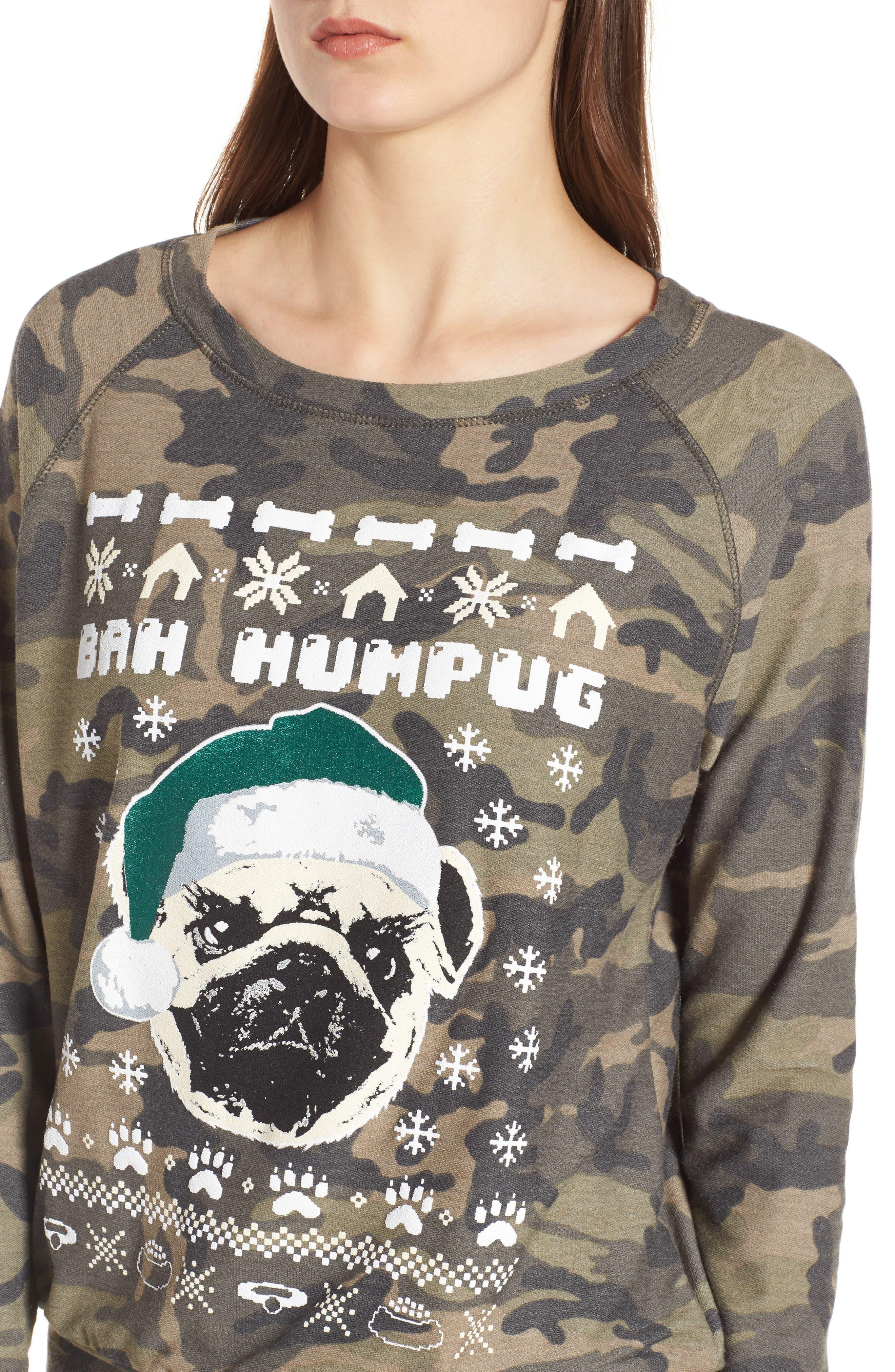 Bah Humpug Sweatshirt,                             Alternate thumbnail 4, color,                             300