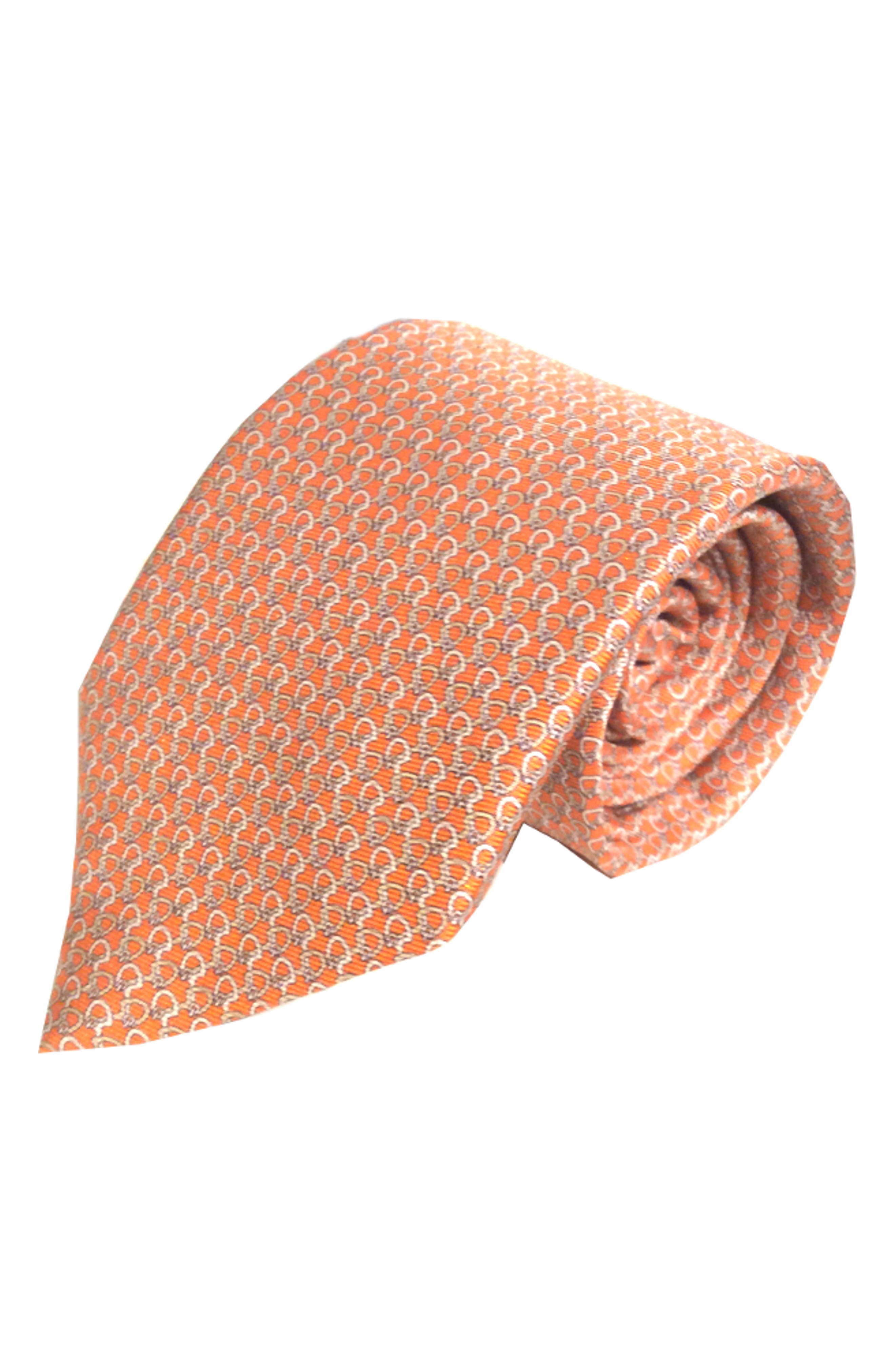 Back in the Saddle Silk Tie,                             Main thumbnail 1, color,                             ORANGE
