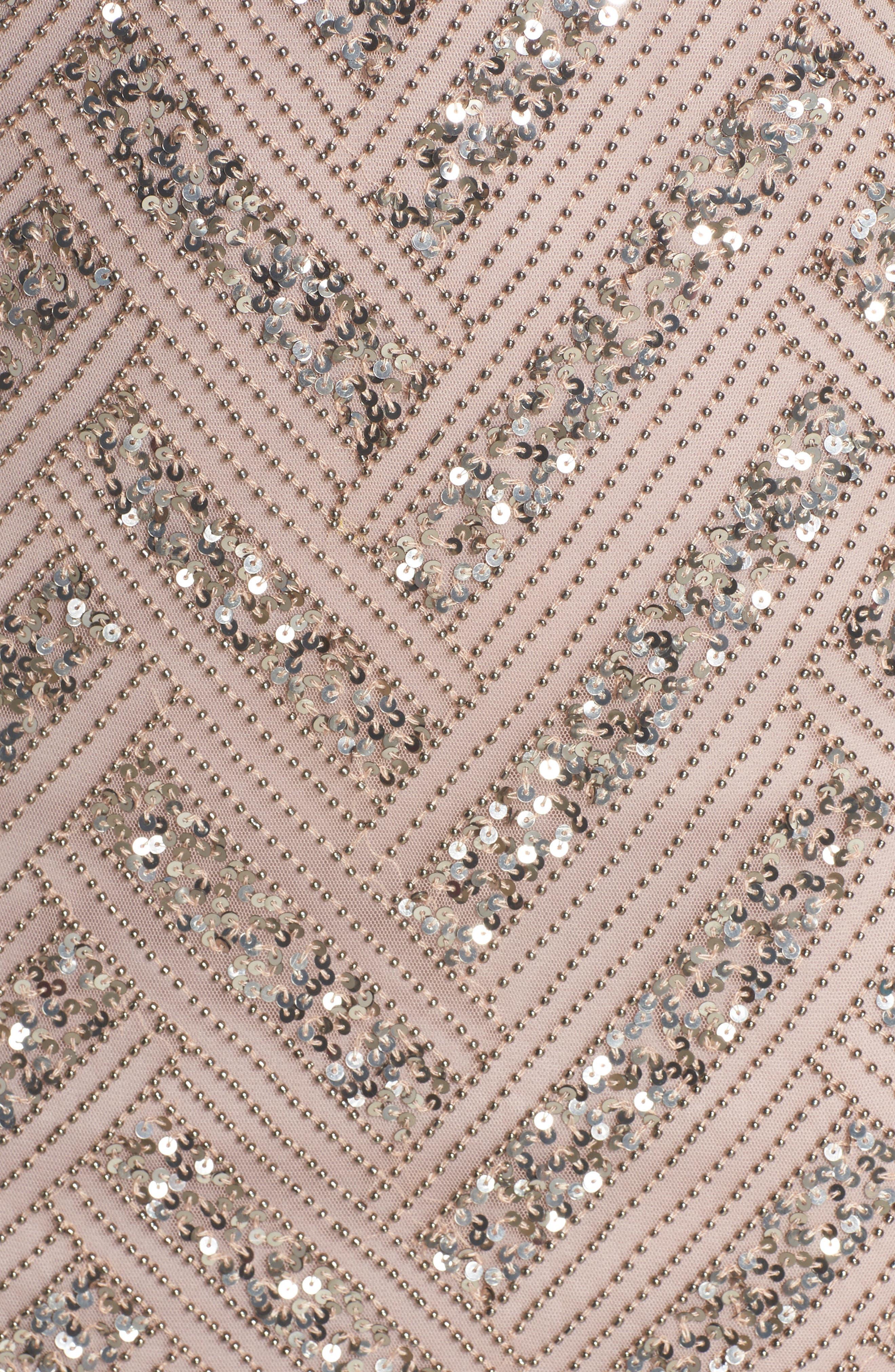Beaded V-Neck Sheath Dress,                             Alternate thumbnail 5, color,                             LIGHT LAVENDER