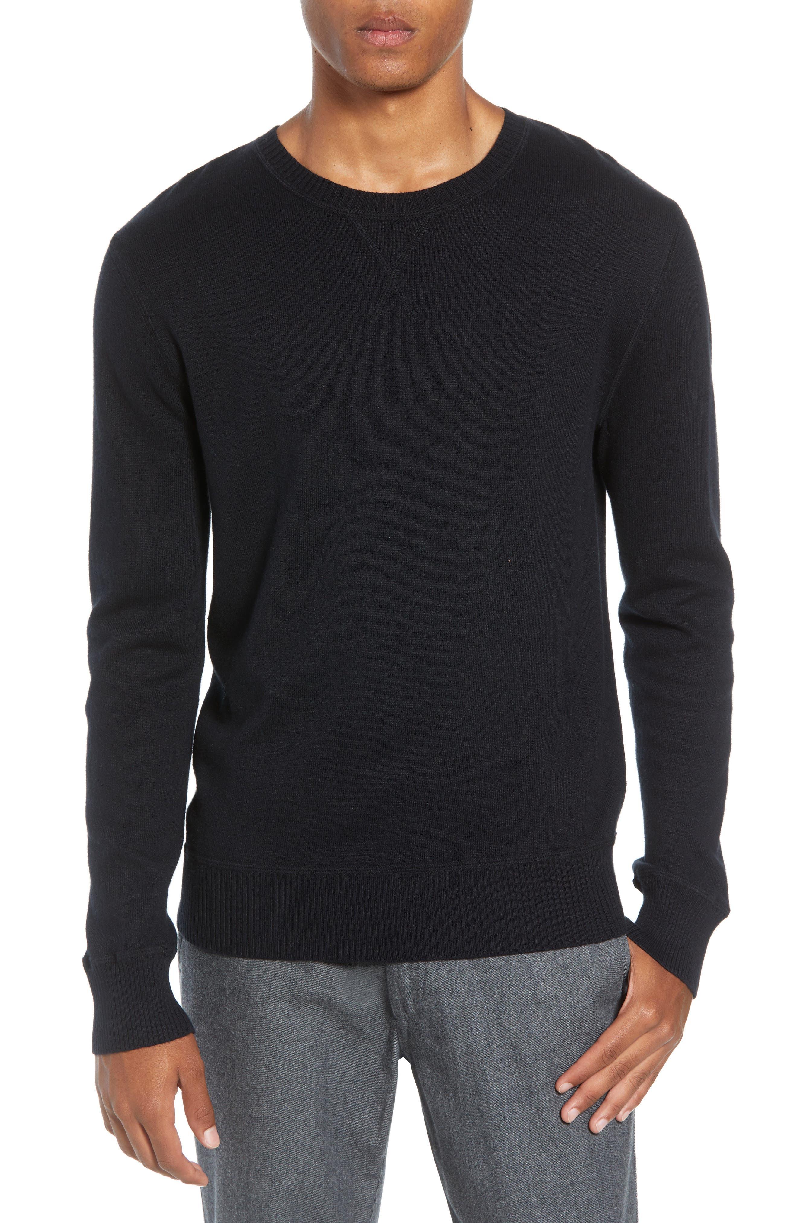 Tournament Slim Fit Crewneck Sweater,                         Main,                         color, BLACK