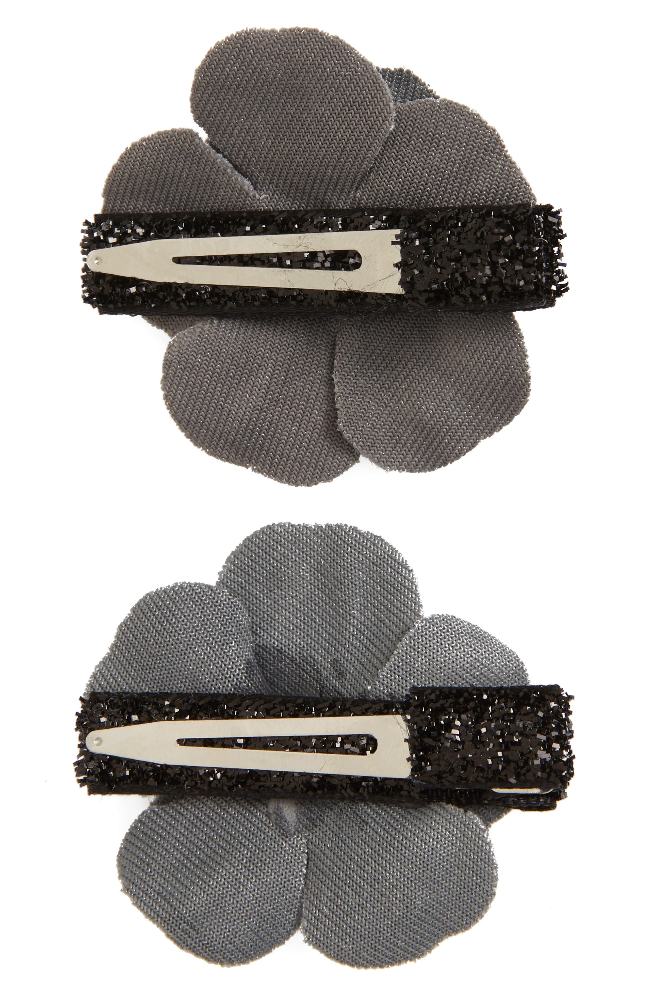 2-Pack Velvet Flower Clips,                             Alternate thumbnail 2, color,                             020