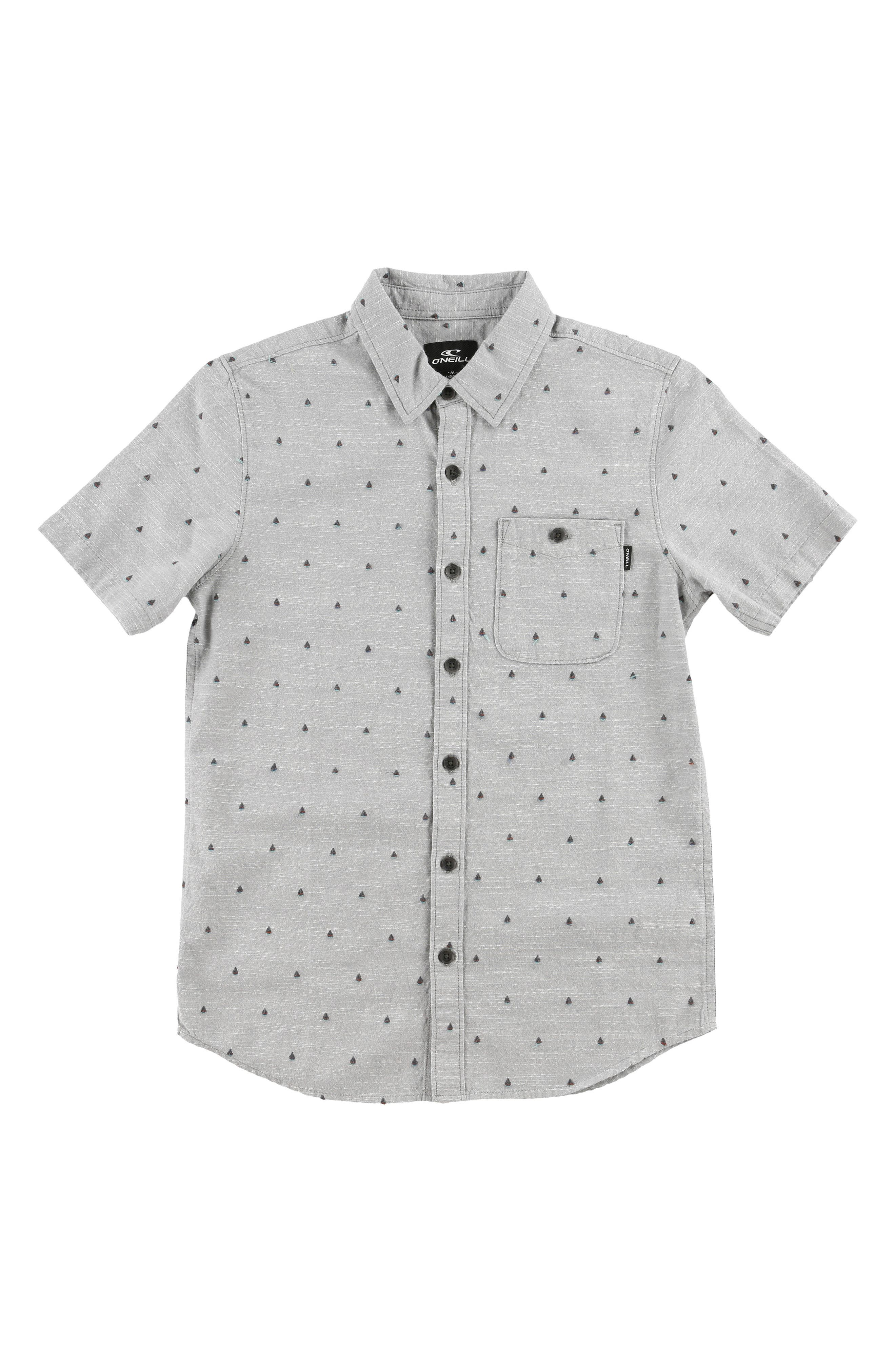 O'NEILL,                             Woods Woven Shirt,                             Main thumbnail 1, color,                             GREY