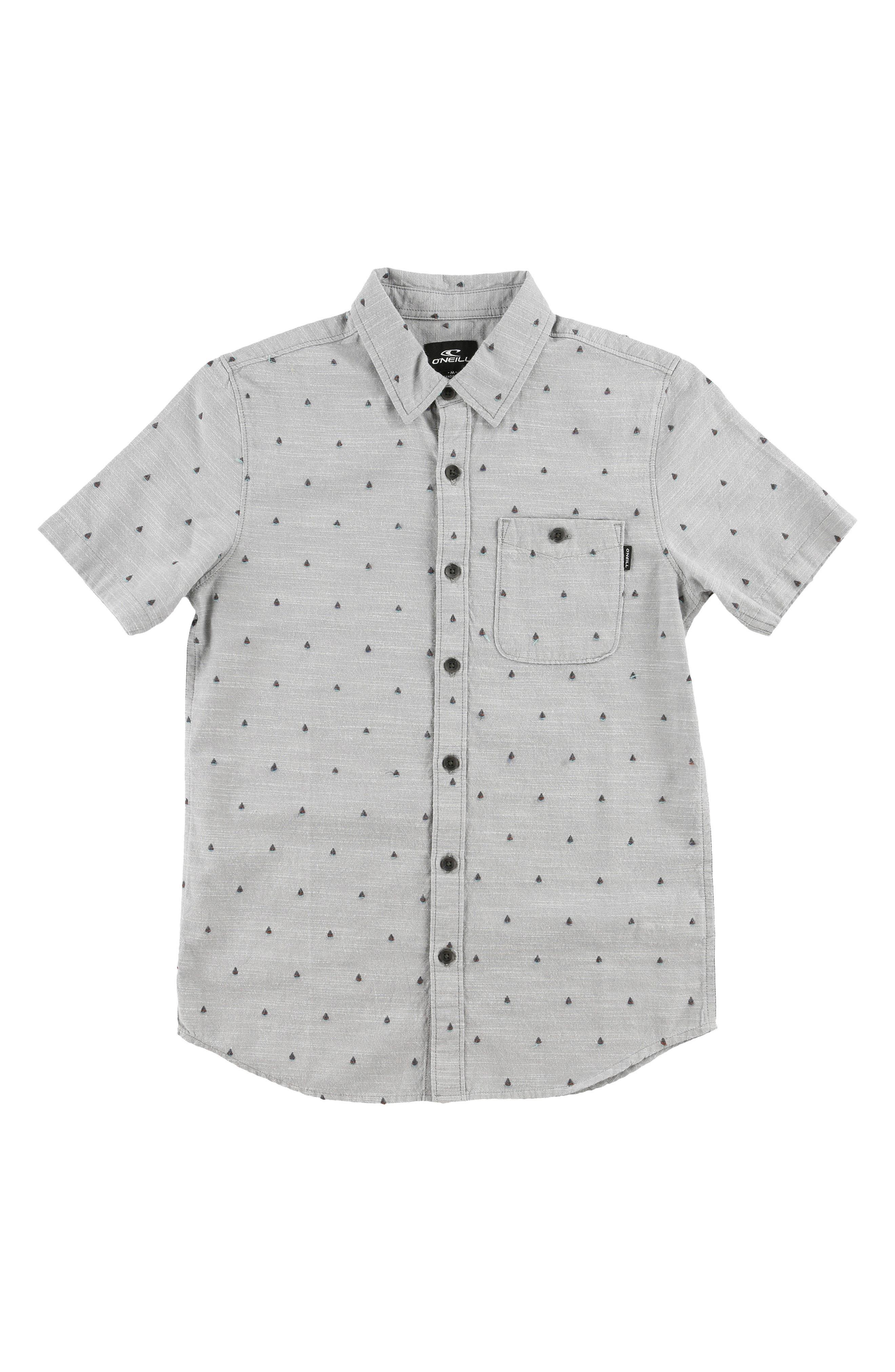 O'NEILL Woods Woven Shirt, Main, color, GREY