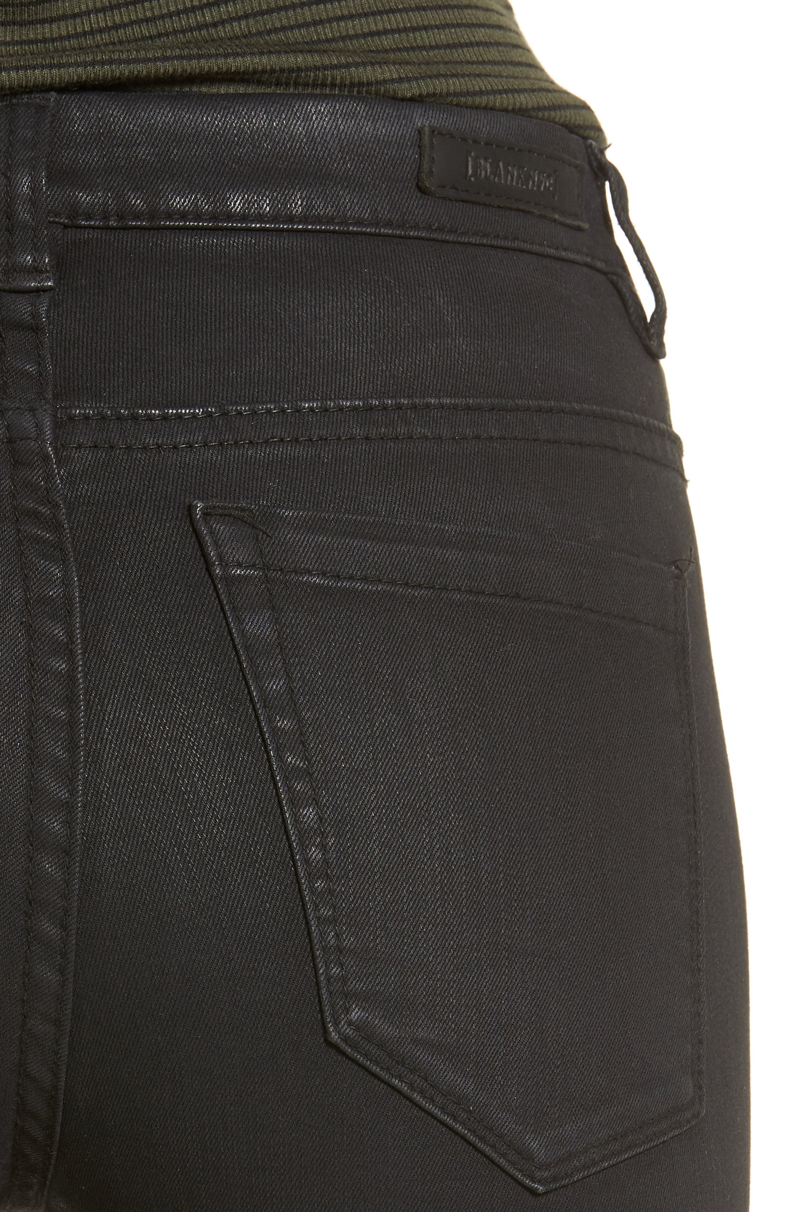 'All Lacquered Up' Coated Skinny Jeans,                             Alternate thumbnail 4, color,                             001