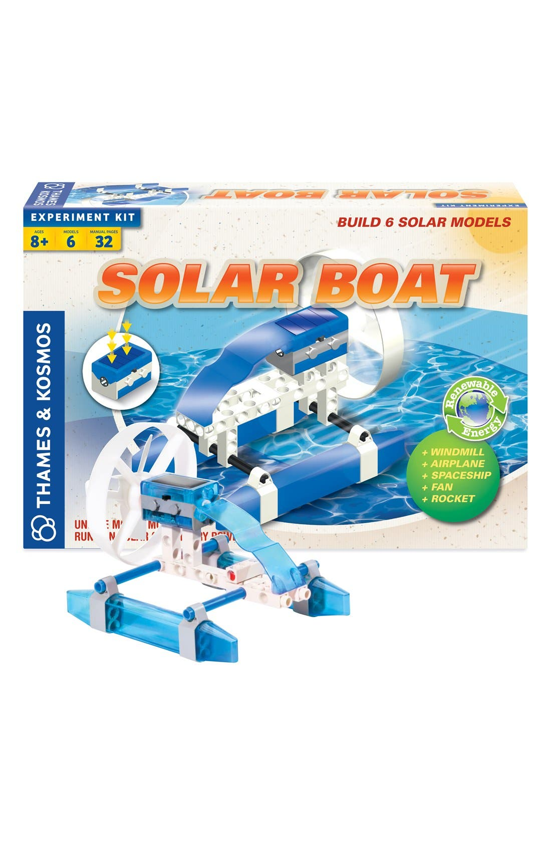 'Solar Boat' Experiment Kit,                             Main thumbnail 1, color,                             000
