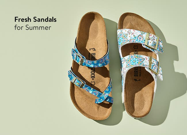 Fresh sandals for summer.